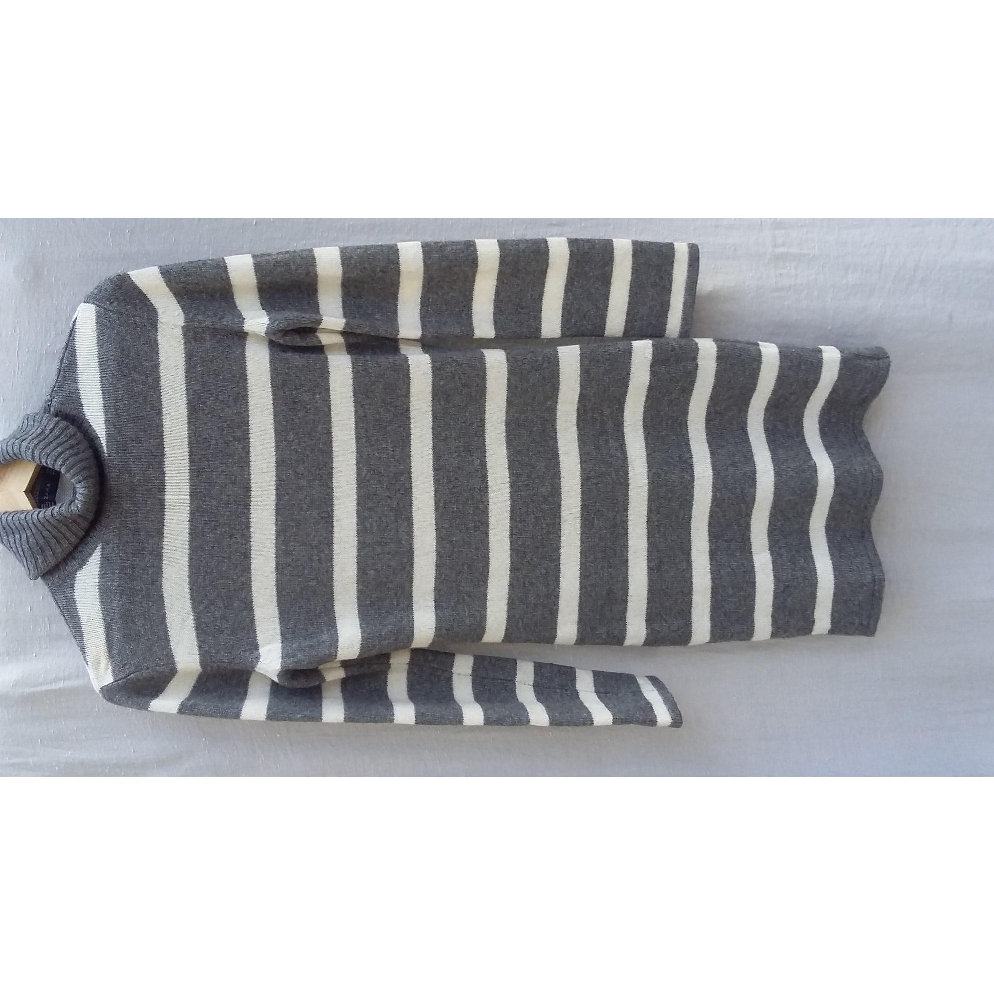 Robe pull ZARA Gris, anthracite