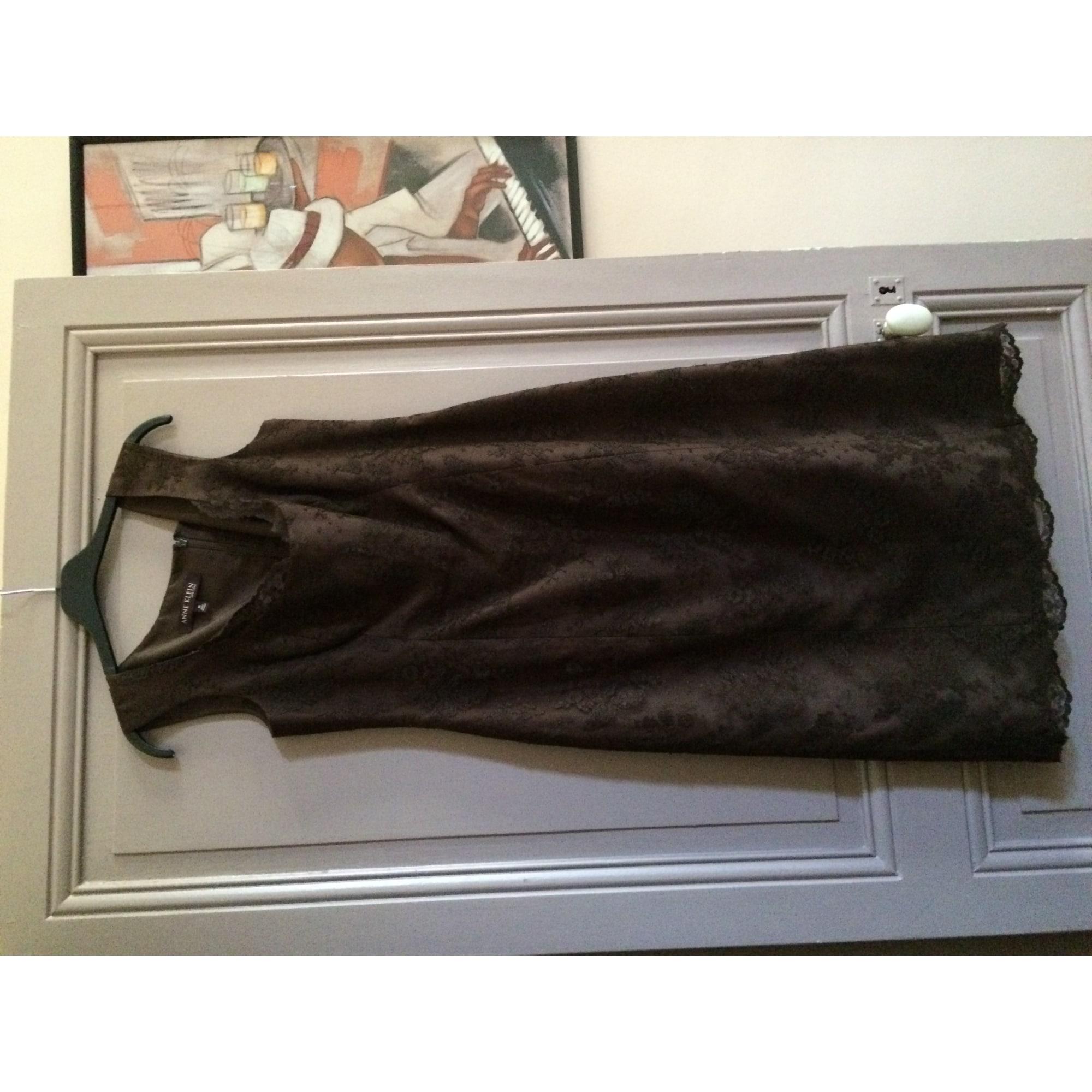 Robe courte ANNE KLEIN Marron