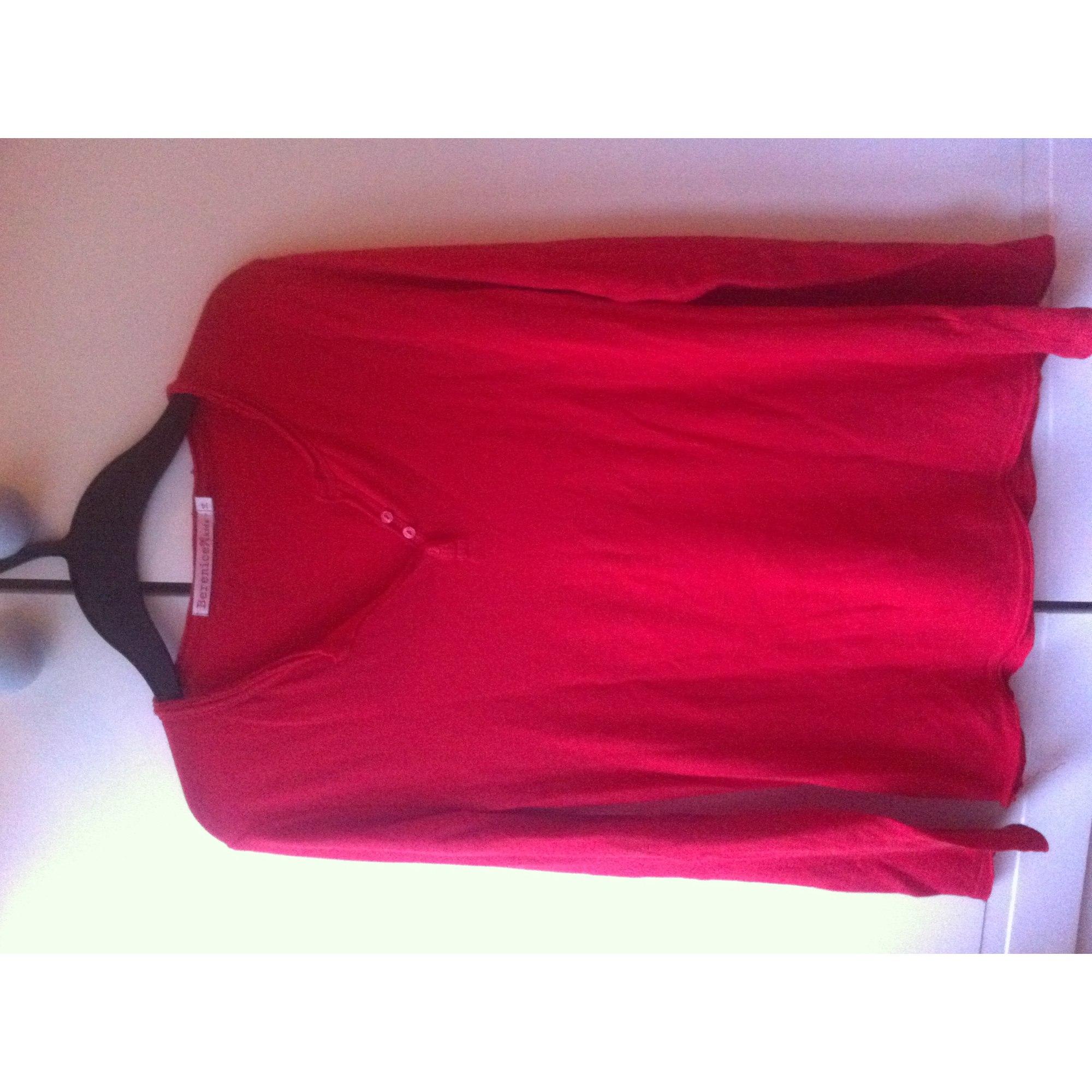 Top, tee-shirt BERENICE Rouge, bordeaux