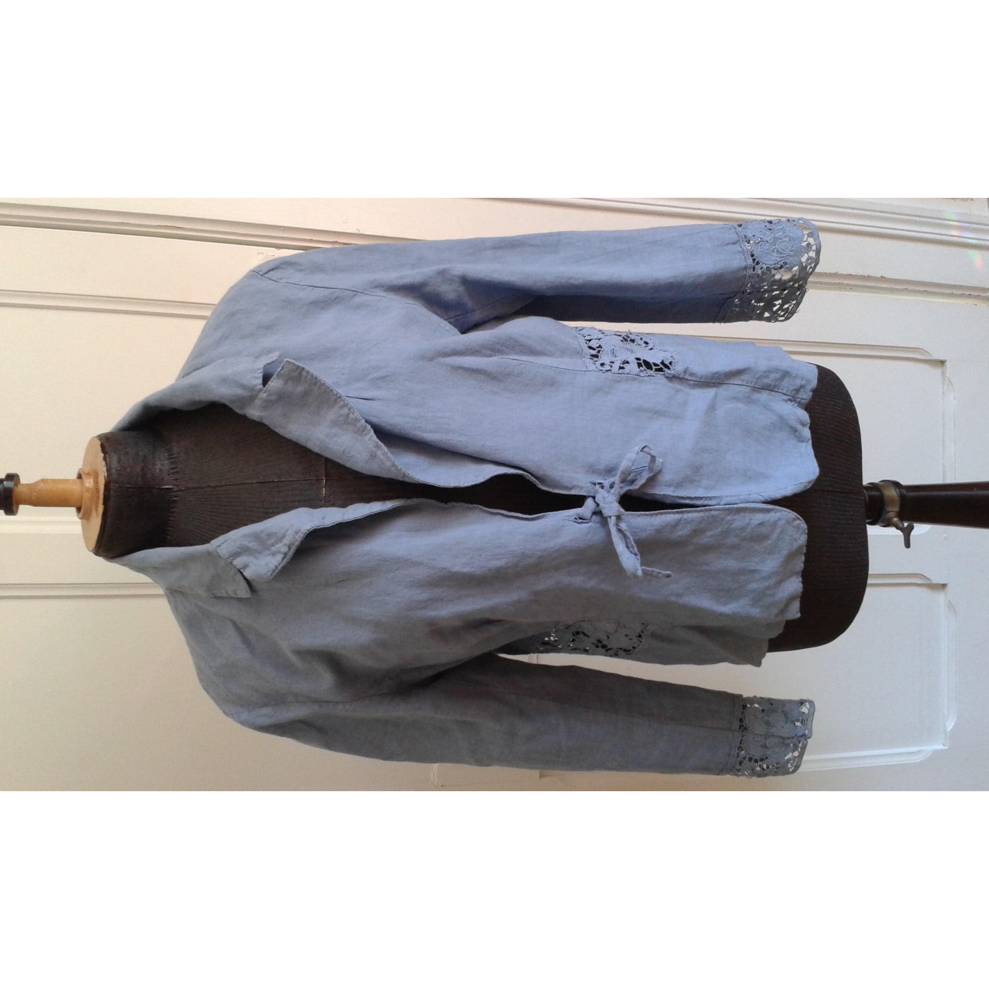Gilet, cardigan AGATHE VELMONT Bleu, bleu marine, bleu turquoise