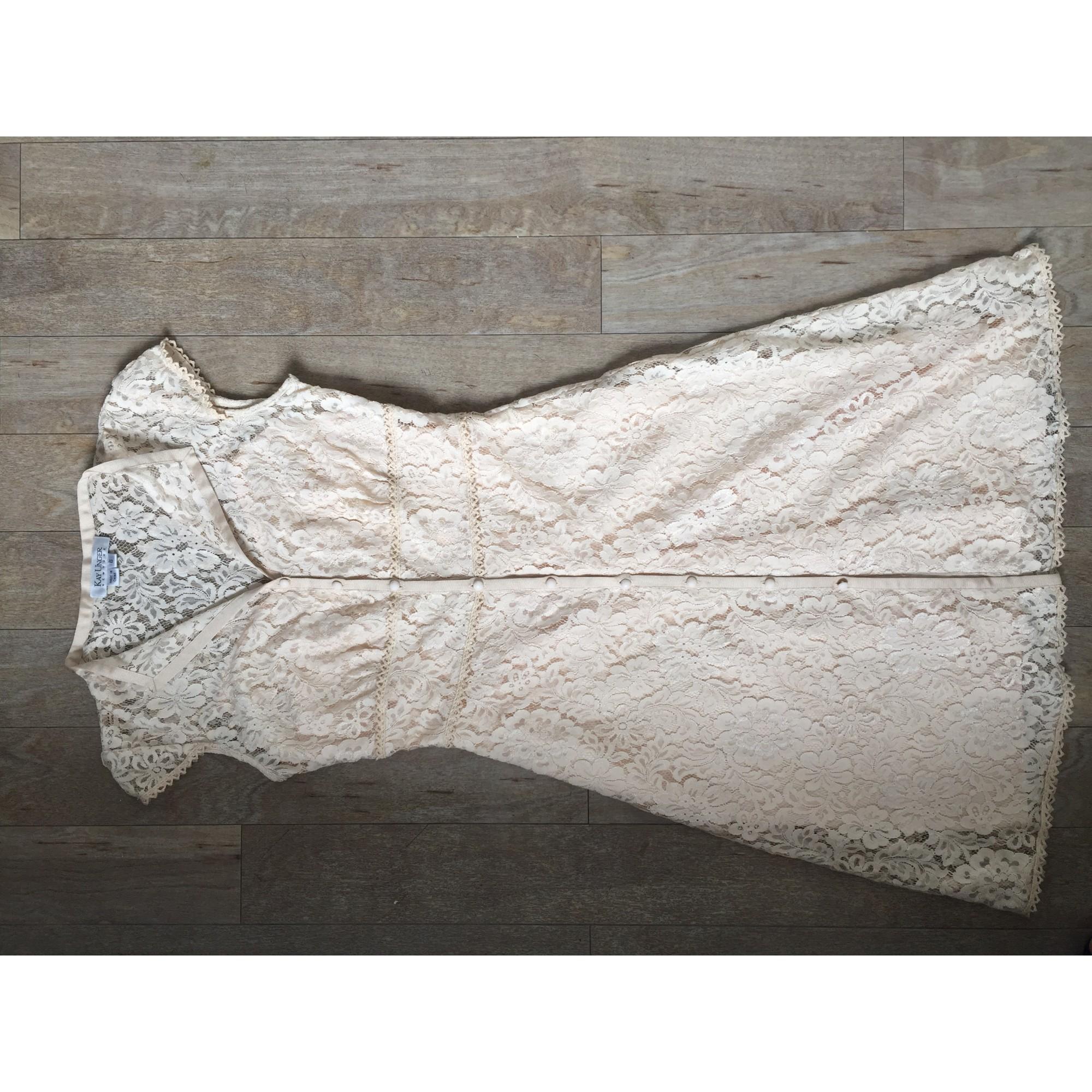 Robe mi-longue MARQUE INCONNUE Blanc, blanc cassé, écru