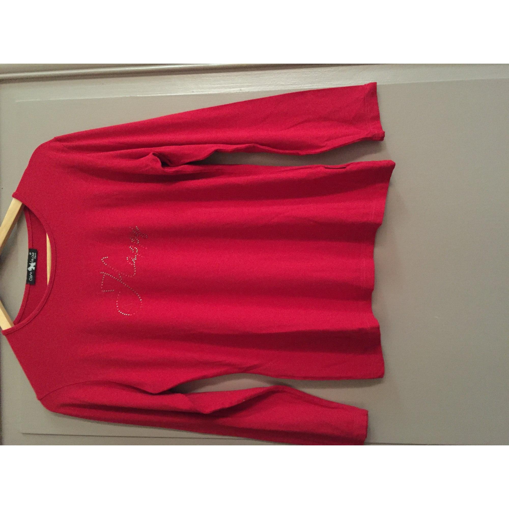 Top, tee-shirt CÔTE ANGLAISE Rouge, bordeaux