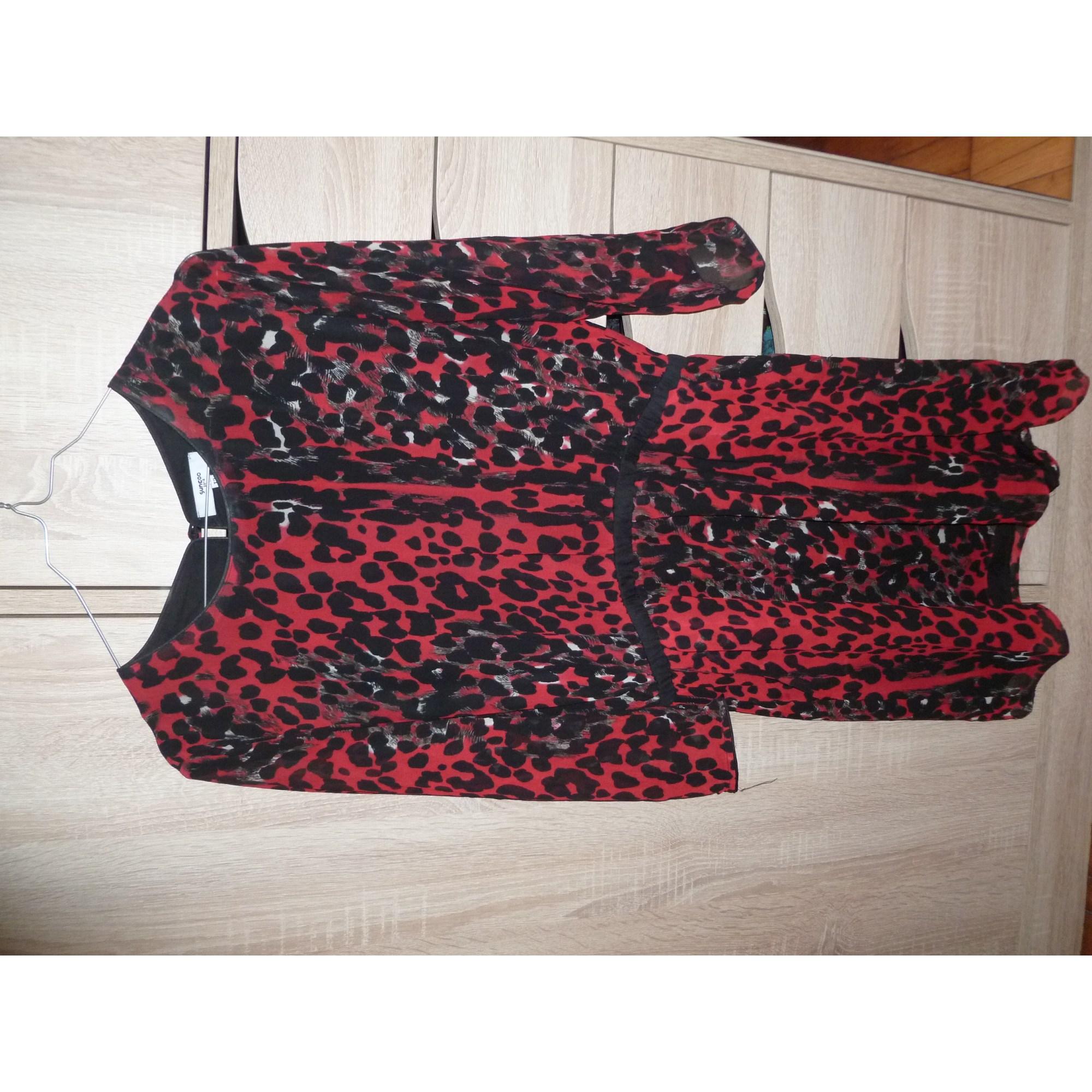 Robe courte SUNCOO Rouge, bordeaux