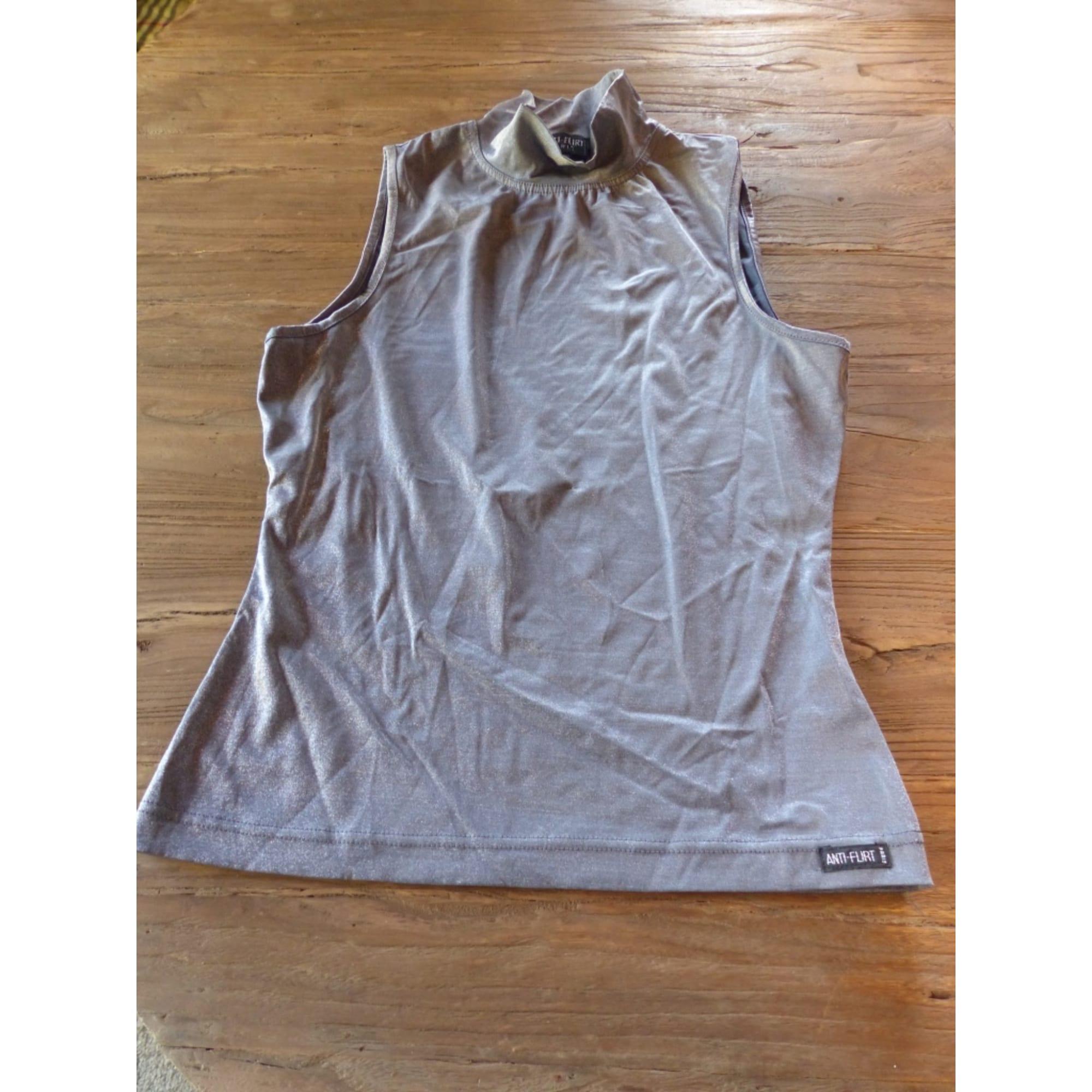 Top, tee-shirt ANTI-FLIRT Gris, anthracite
