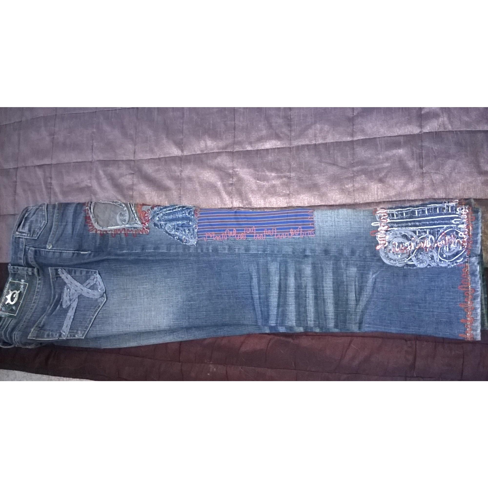 Jeans droit SAVE THE QUEEN Bleu, bleu marine, bleu turquoise