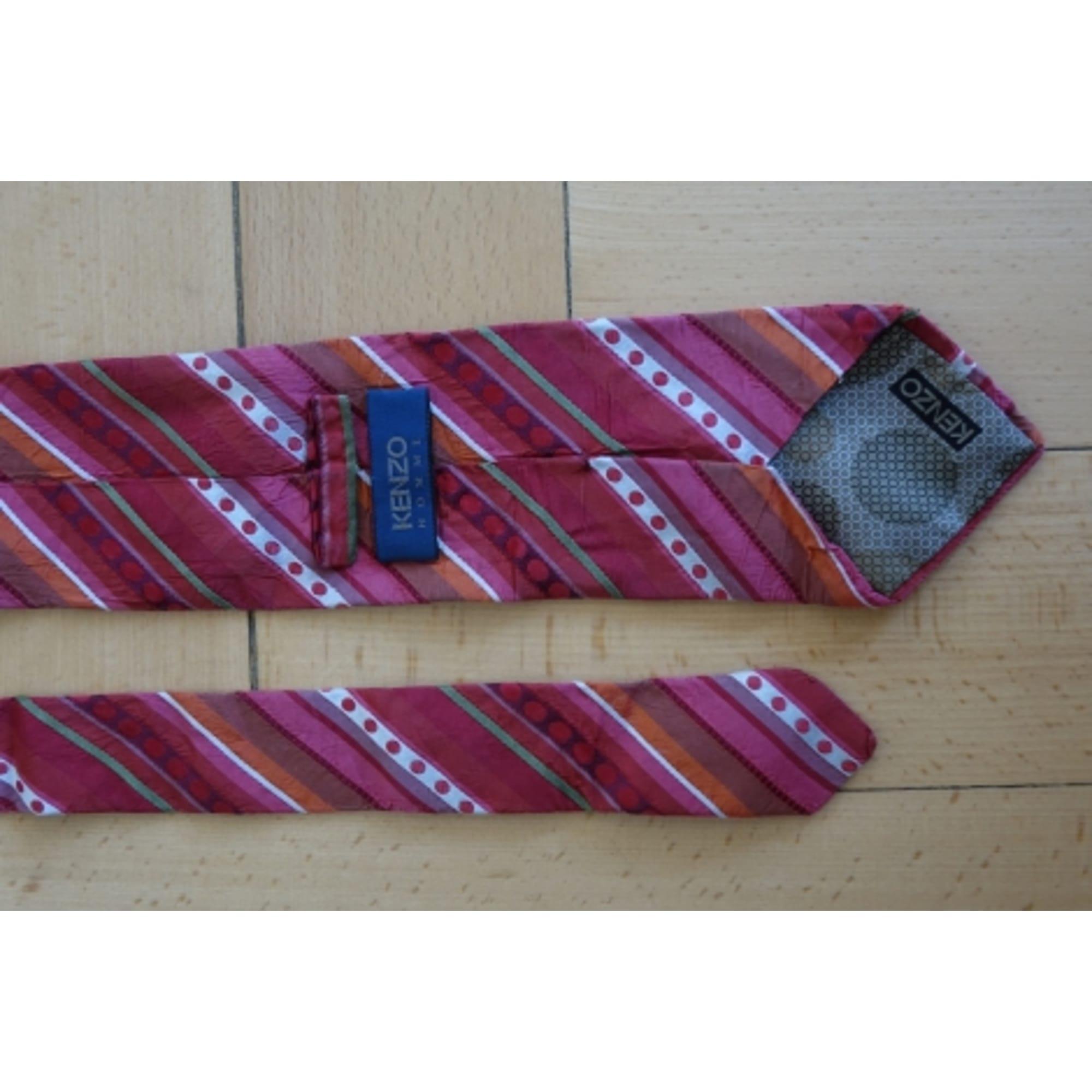 Cravate KENZO Rouge, bordeaux