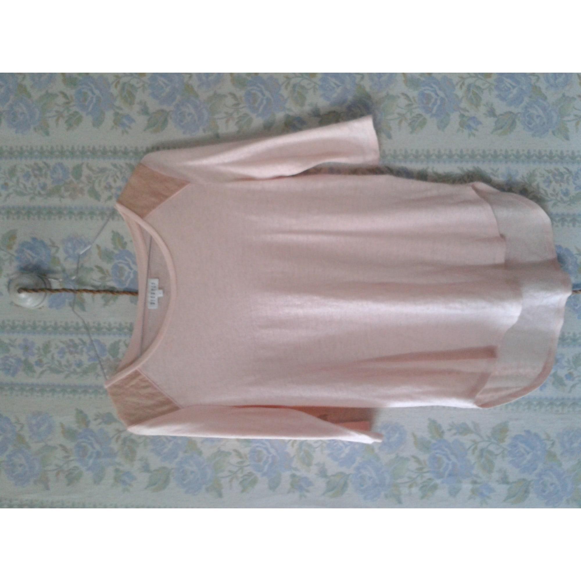 Top, tee-shirt CLAUDIE PIERLOT Rose, fuschia, vieux rose
