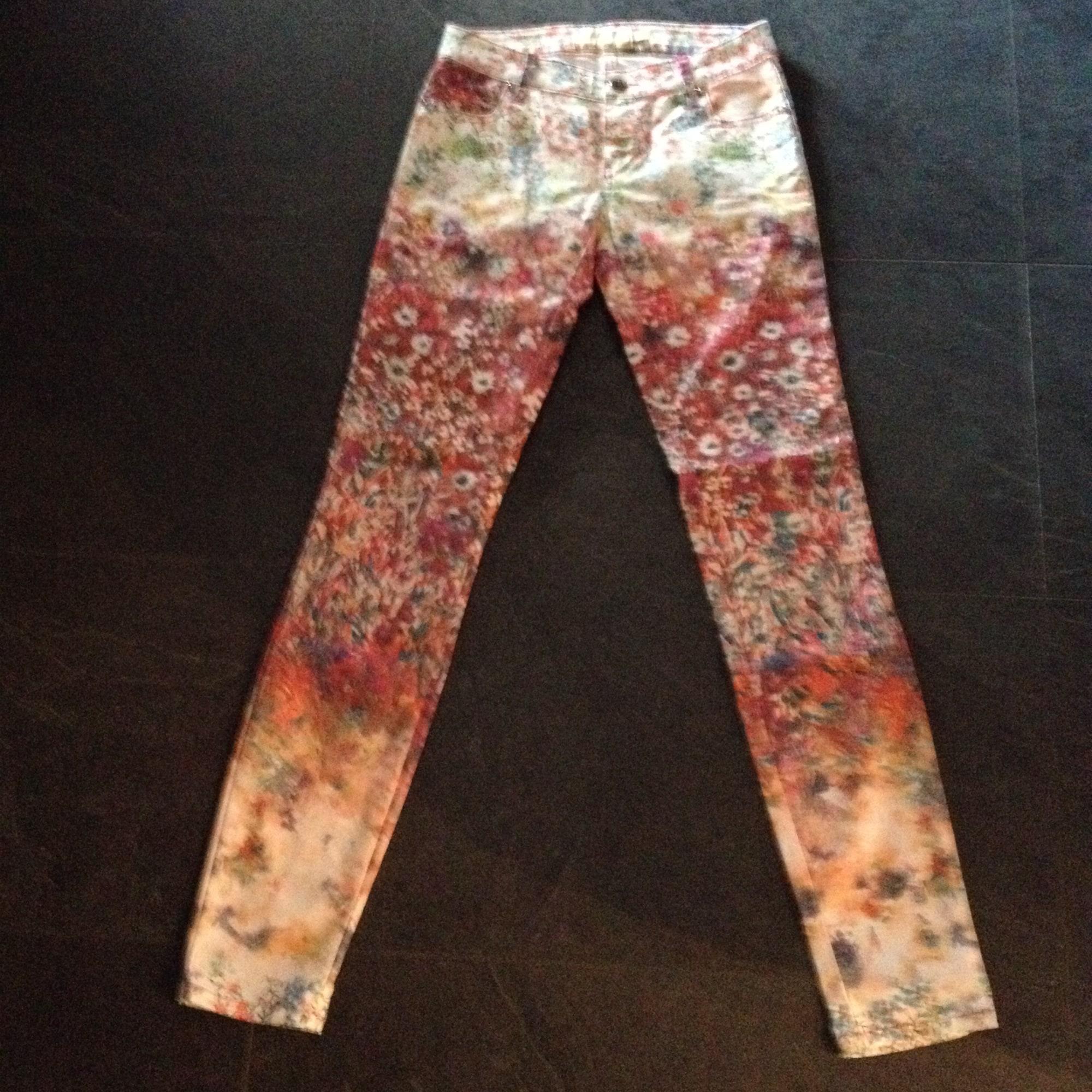 Jeans slim MET Rouge, bordeaux