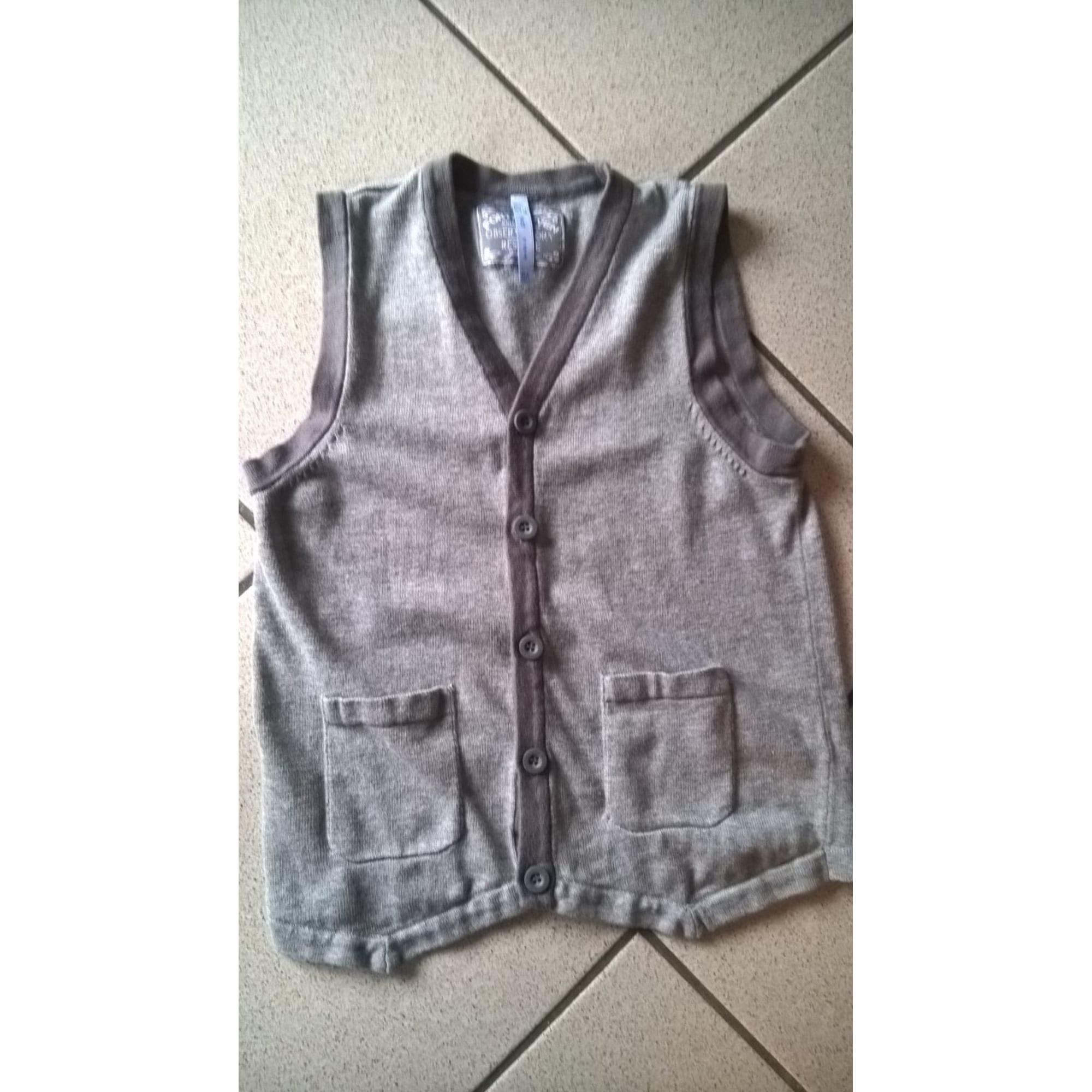 Vest, Cardigan GÉMO Gray, charcoal