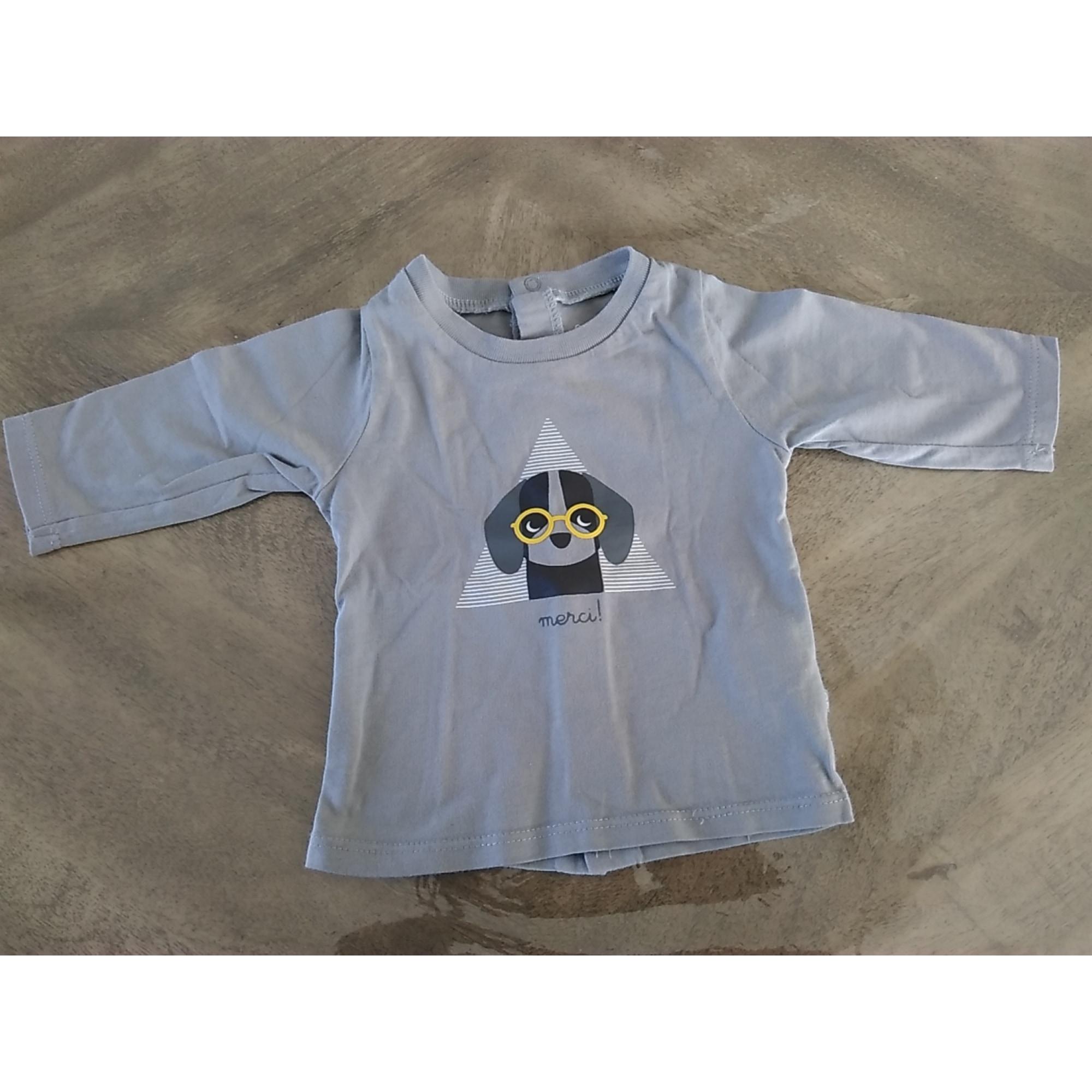 Top, tee shirt OBAIBI Gris, anthracite