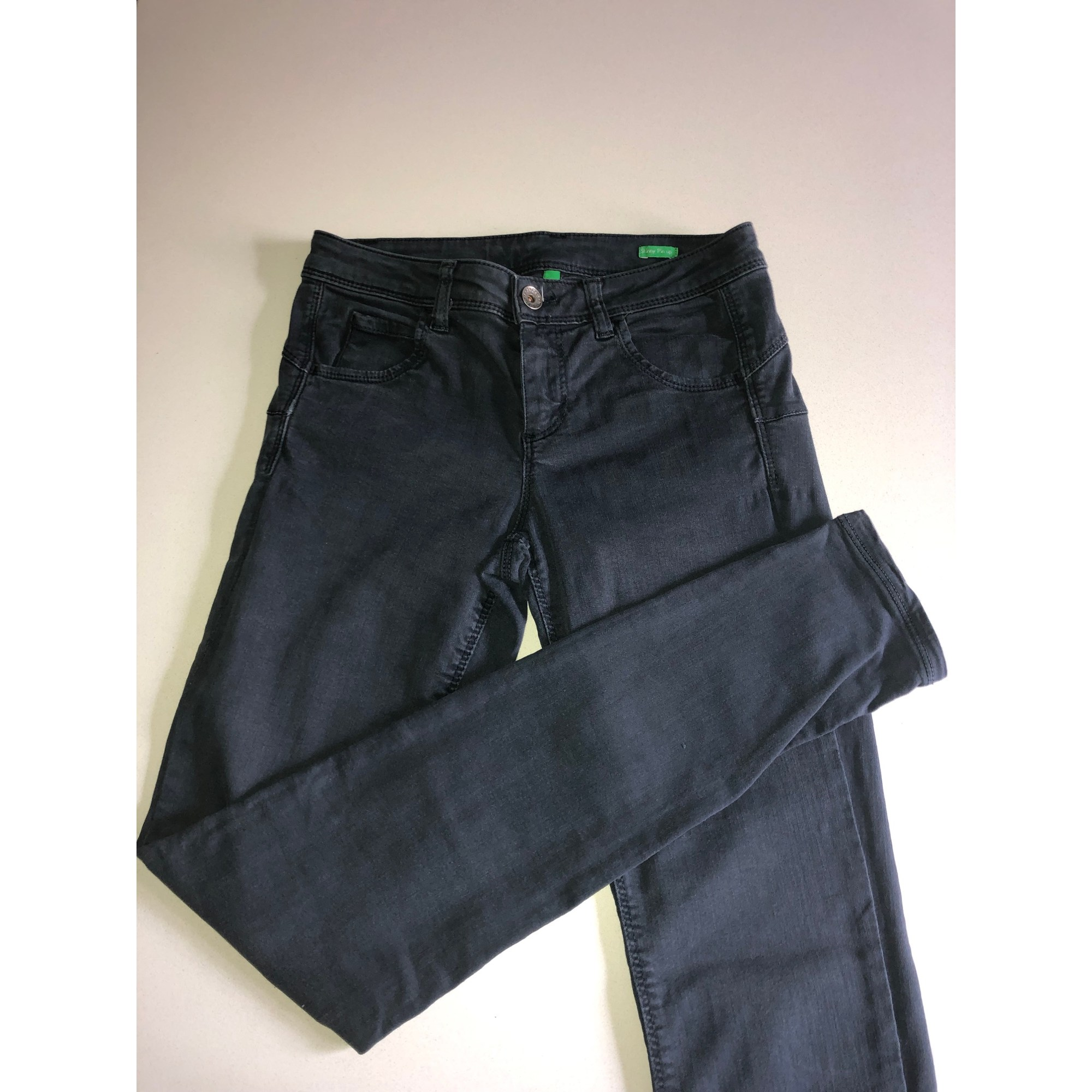 Jean slim  UNITED COLORS OF BENETTON Gris, anthracite