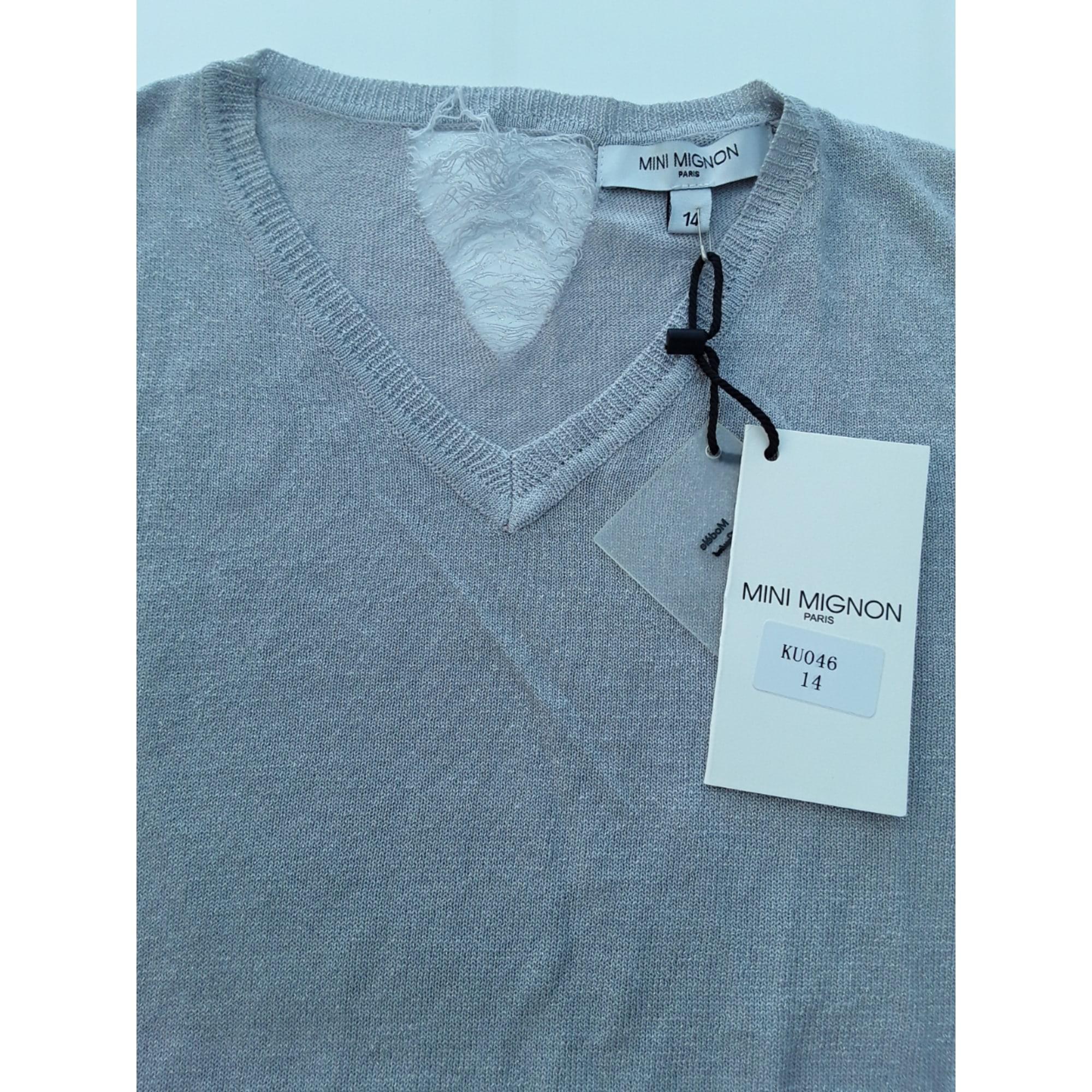 Top, Tee-shirt MINI MIGNON Gris, anthracite