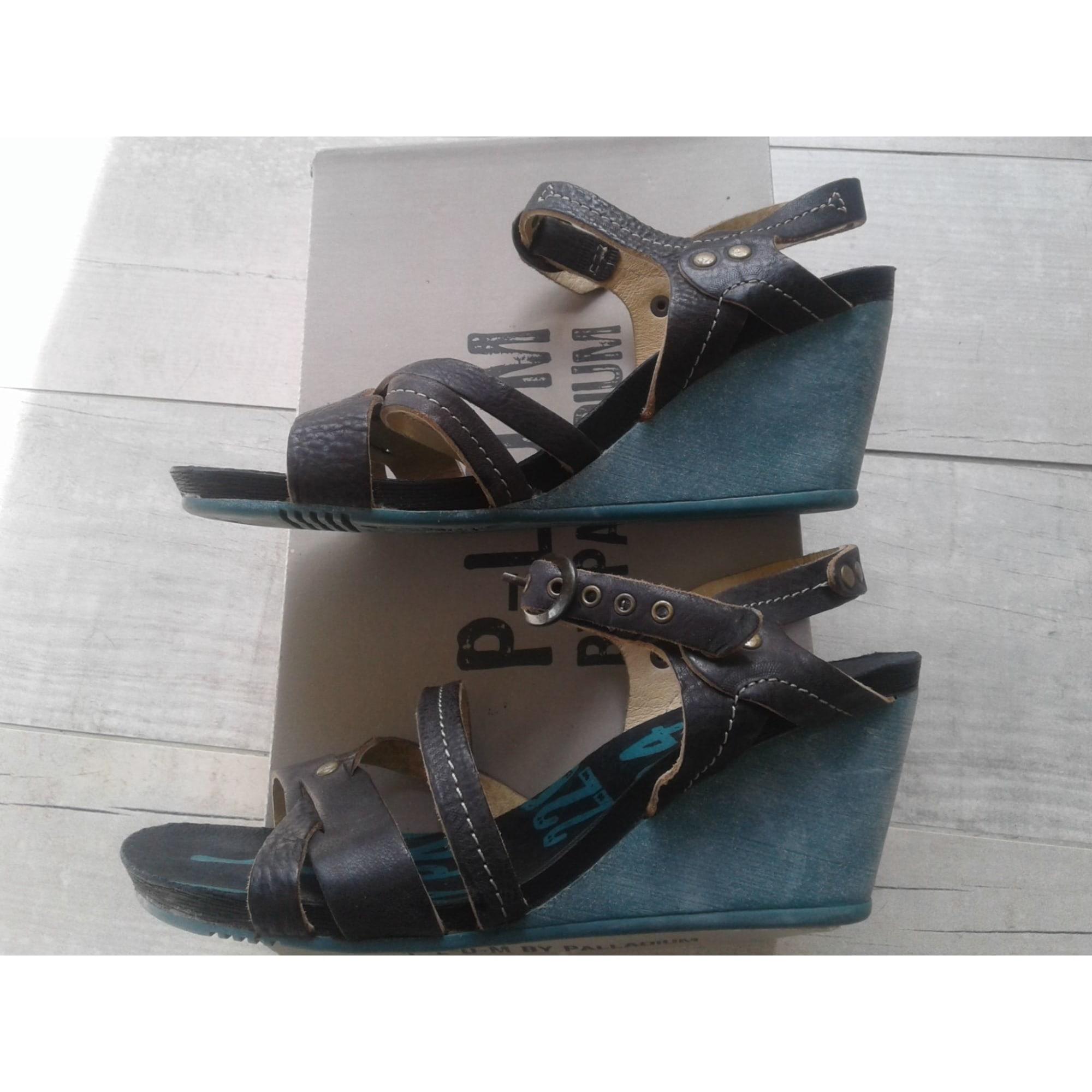 Sandales compensées PALLADIUM Marron