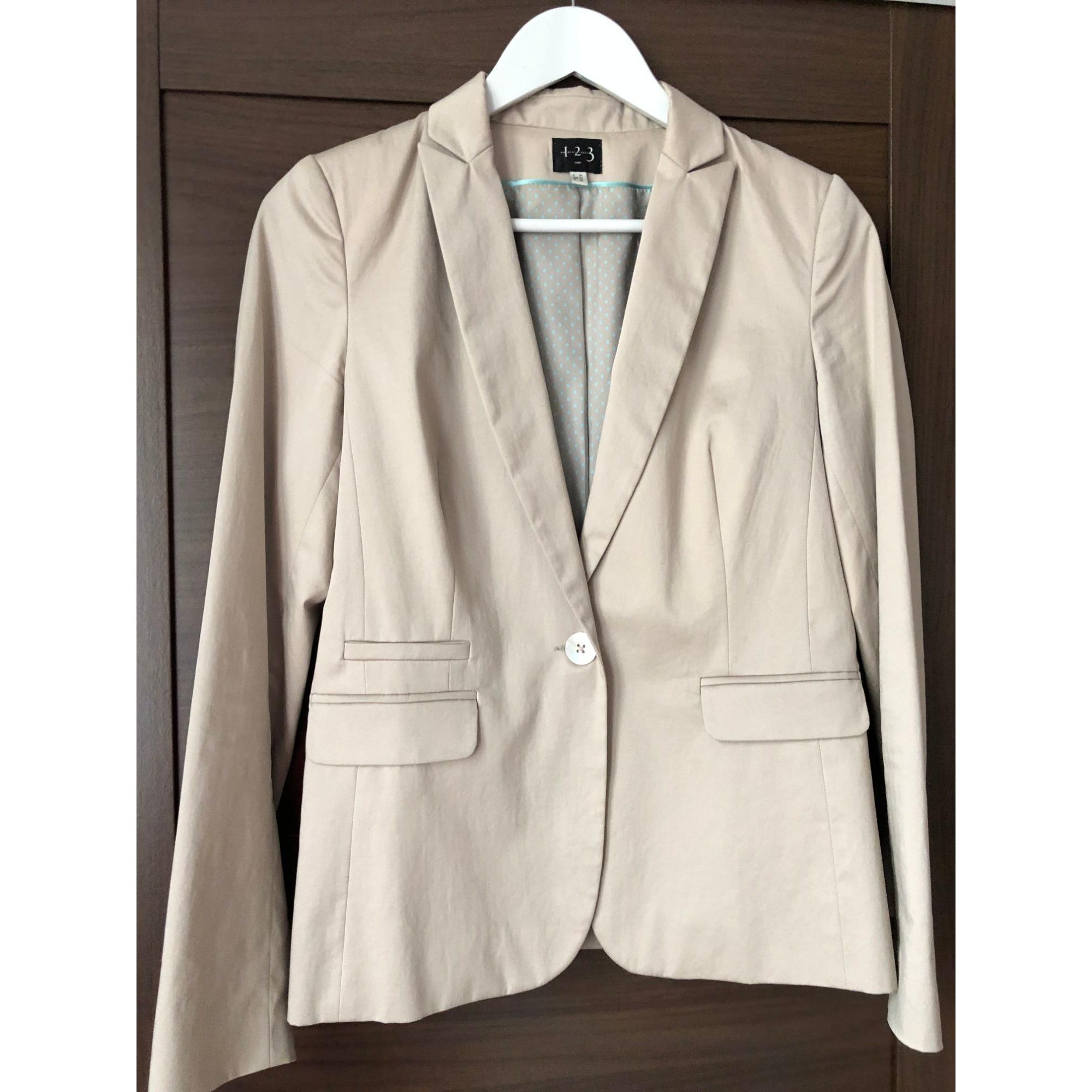 Blazer, veste tailleur 1.2.3 Blanc, blanc cassé, écru