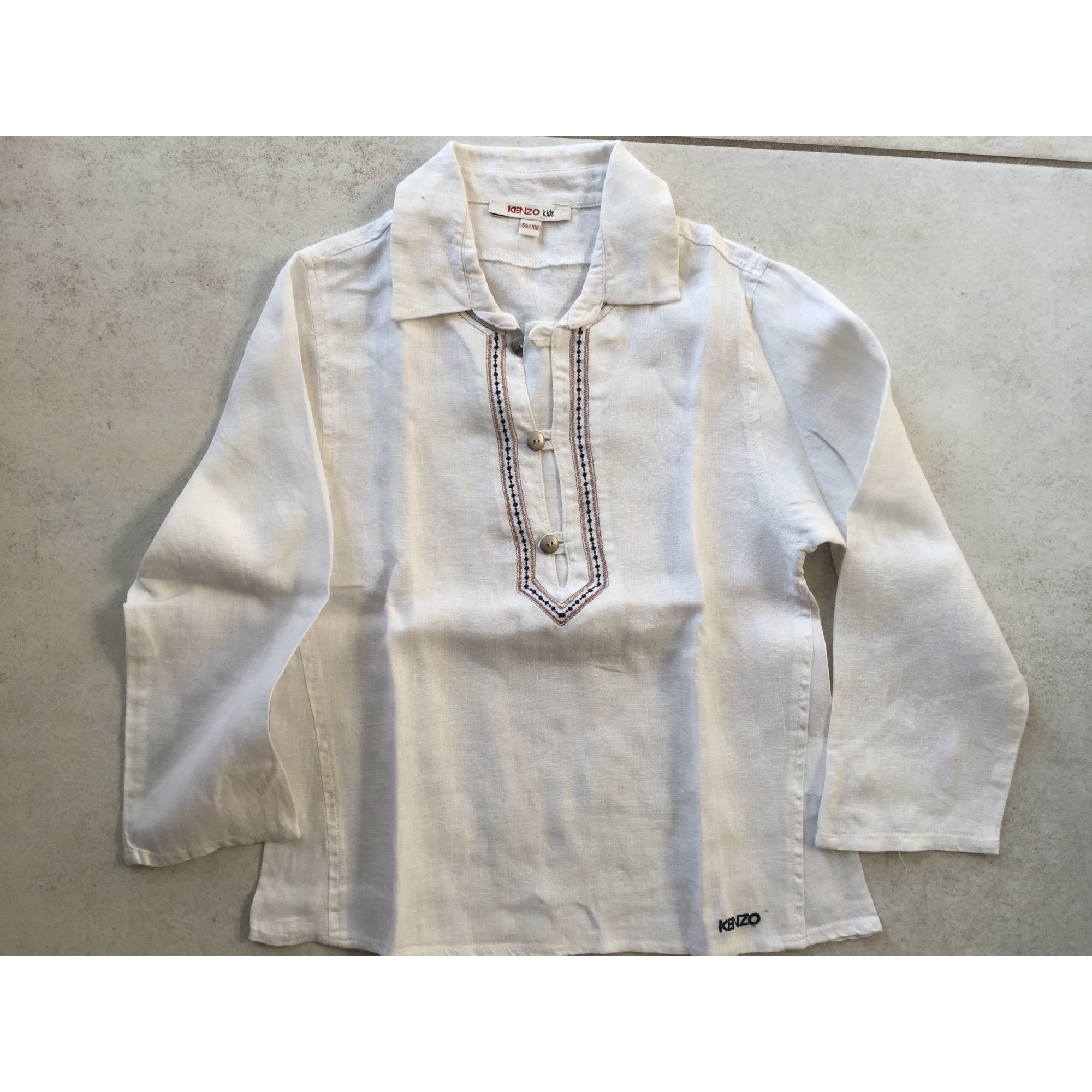 Chemise KENZO Blanc, blanc cassé, écru