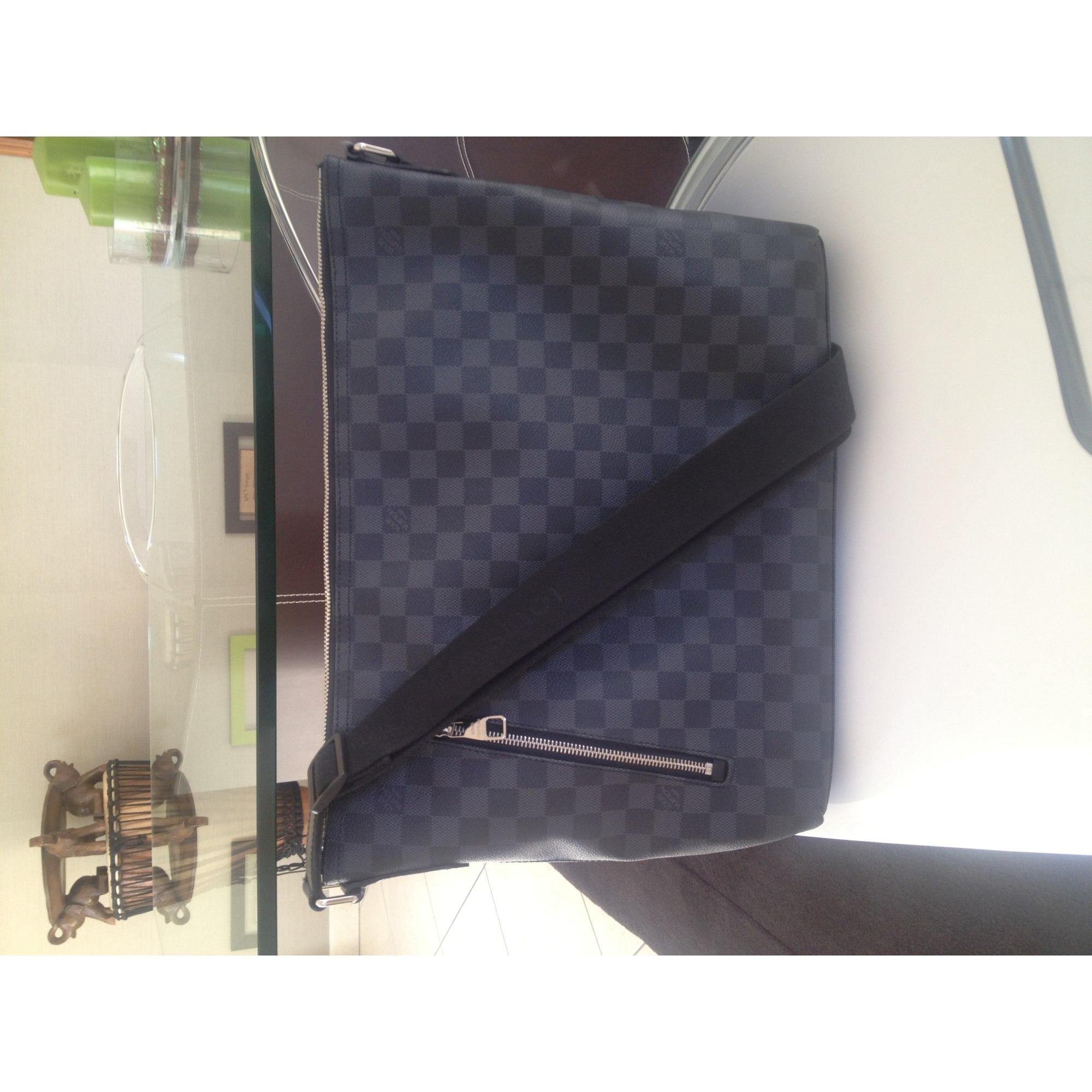 Sac en bandoulière LOUIS VUITTON damier gris anthracite et noir ... fcf495517bf