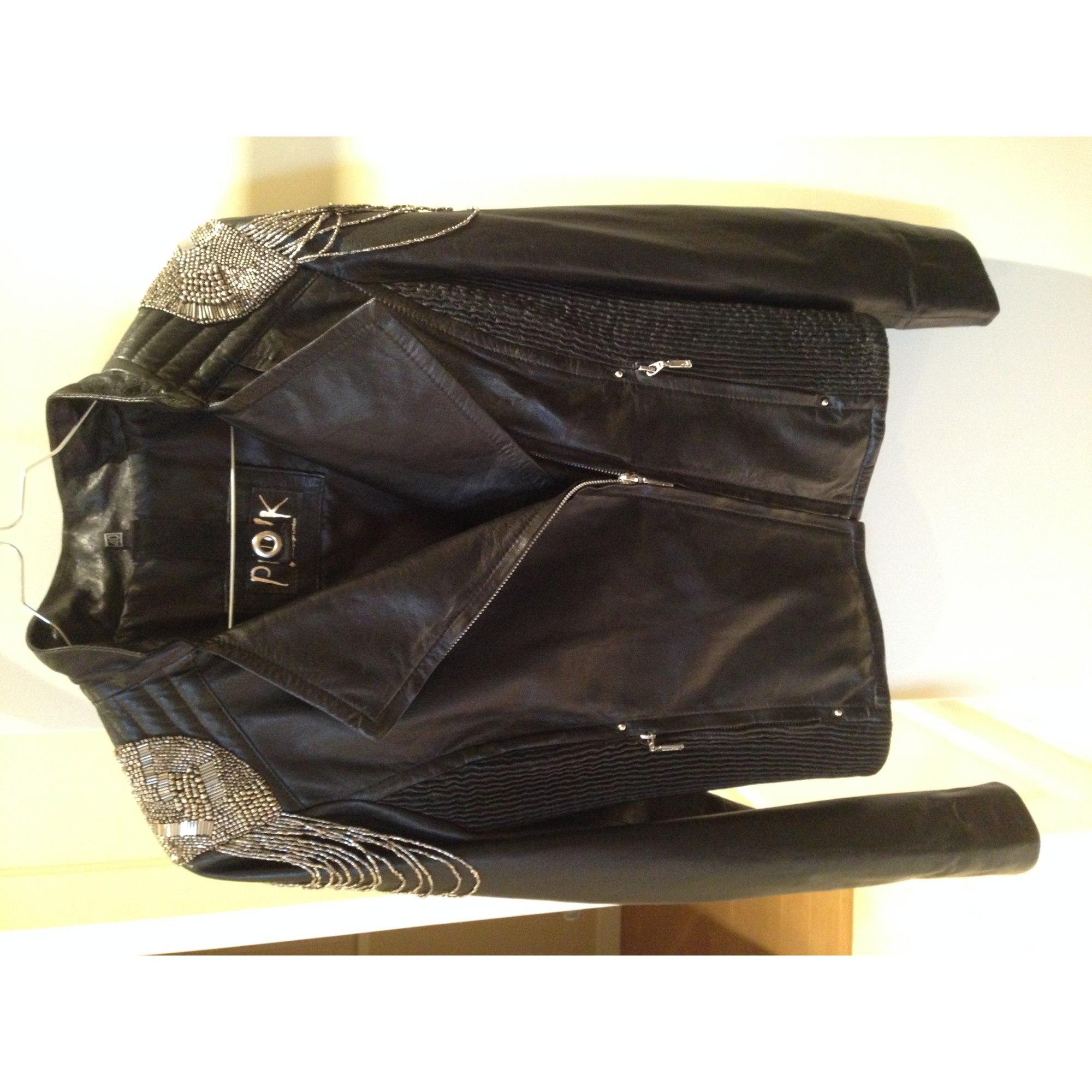 vente chaude en ligne 67cec 2b998 Veste en cuir PUNK BY CAMOUFLAGE DELUXE