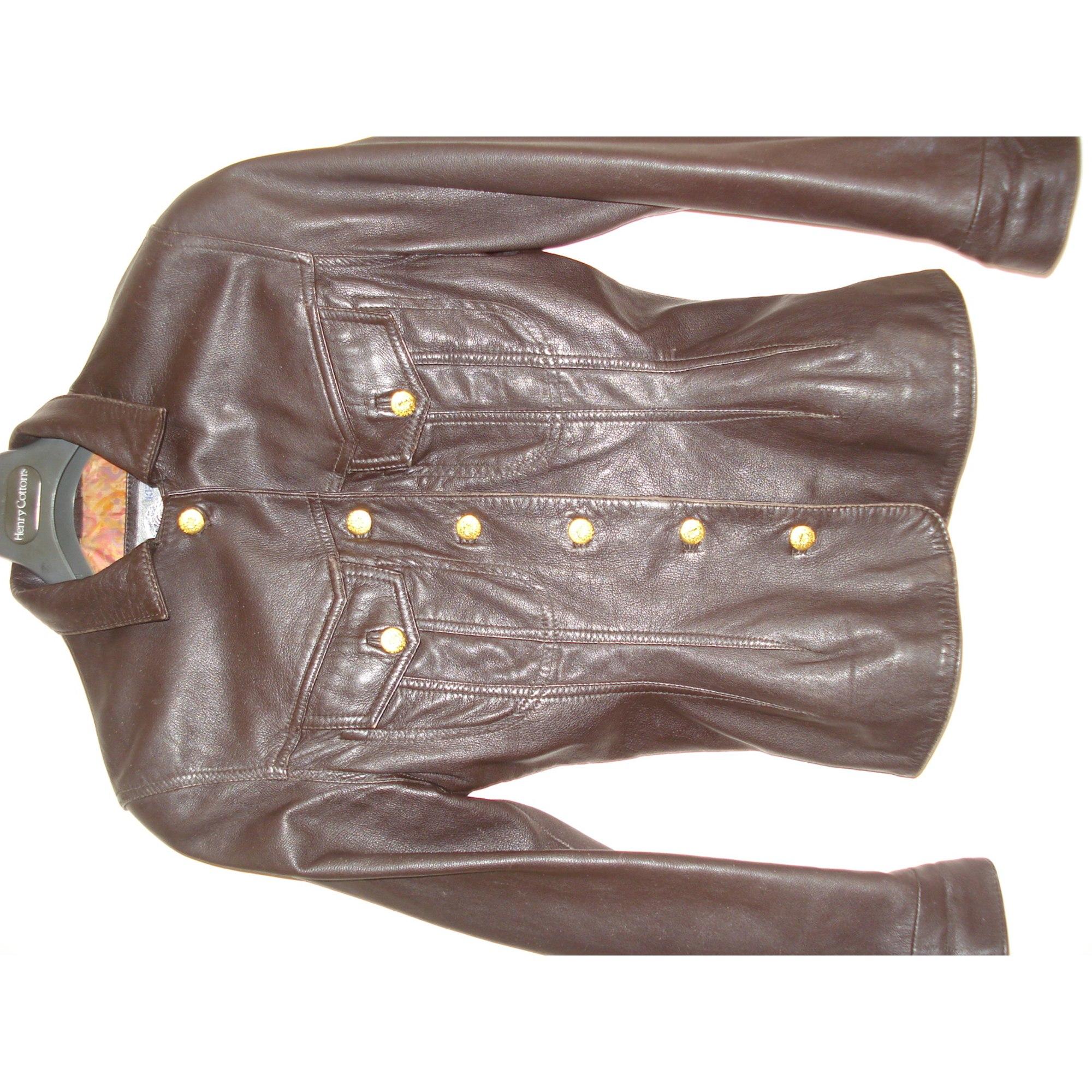 Veste en cuir KENZO 38 (M, T2) marron vendu par Lilishop15319 - 3387947 eb01711456e