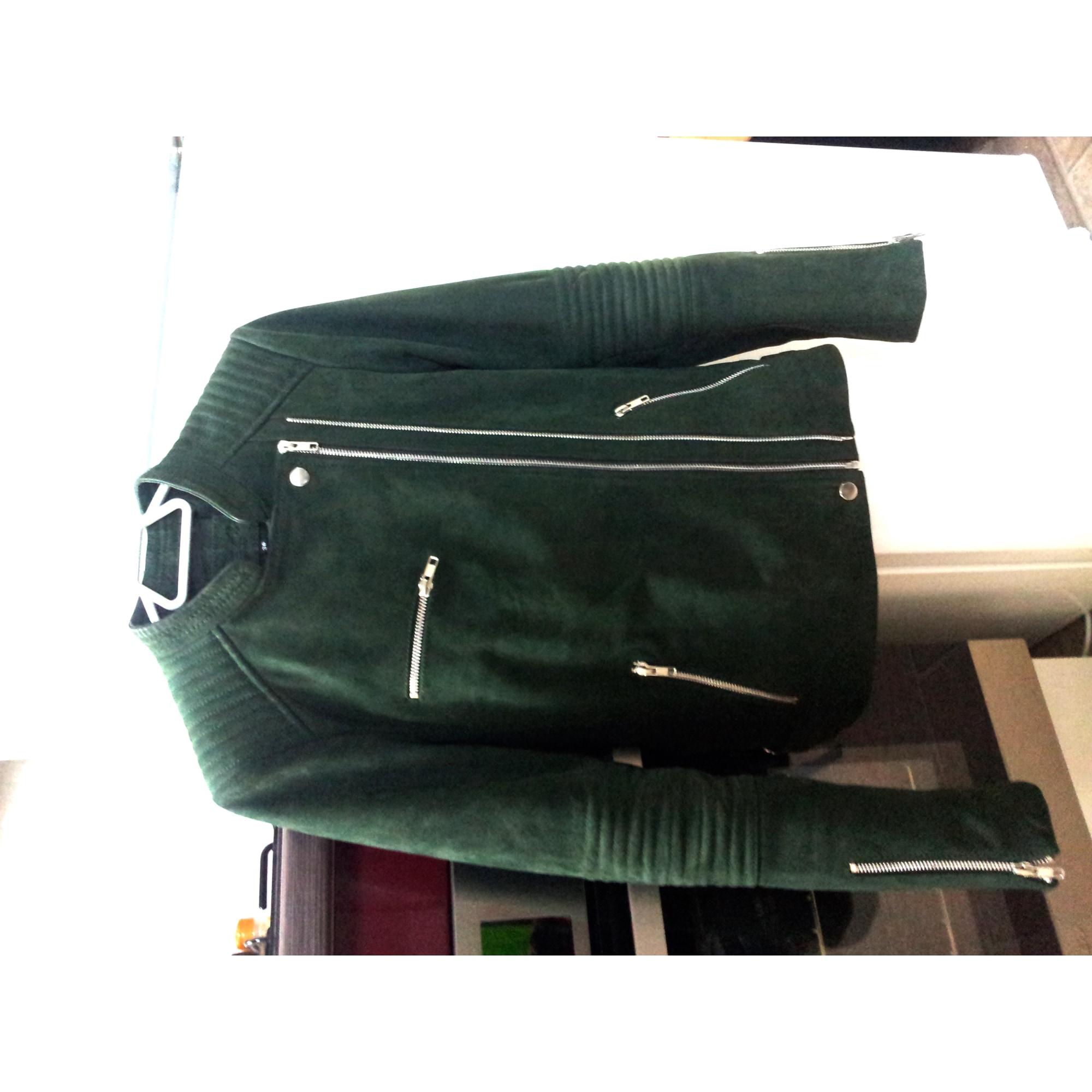 Veste en cuir CAROLL 36 (S, T1) vert vendu par Julie.ch - 3941297 e1dbfb9c846