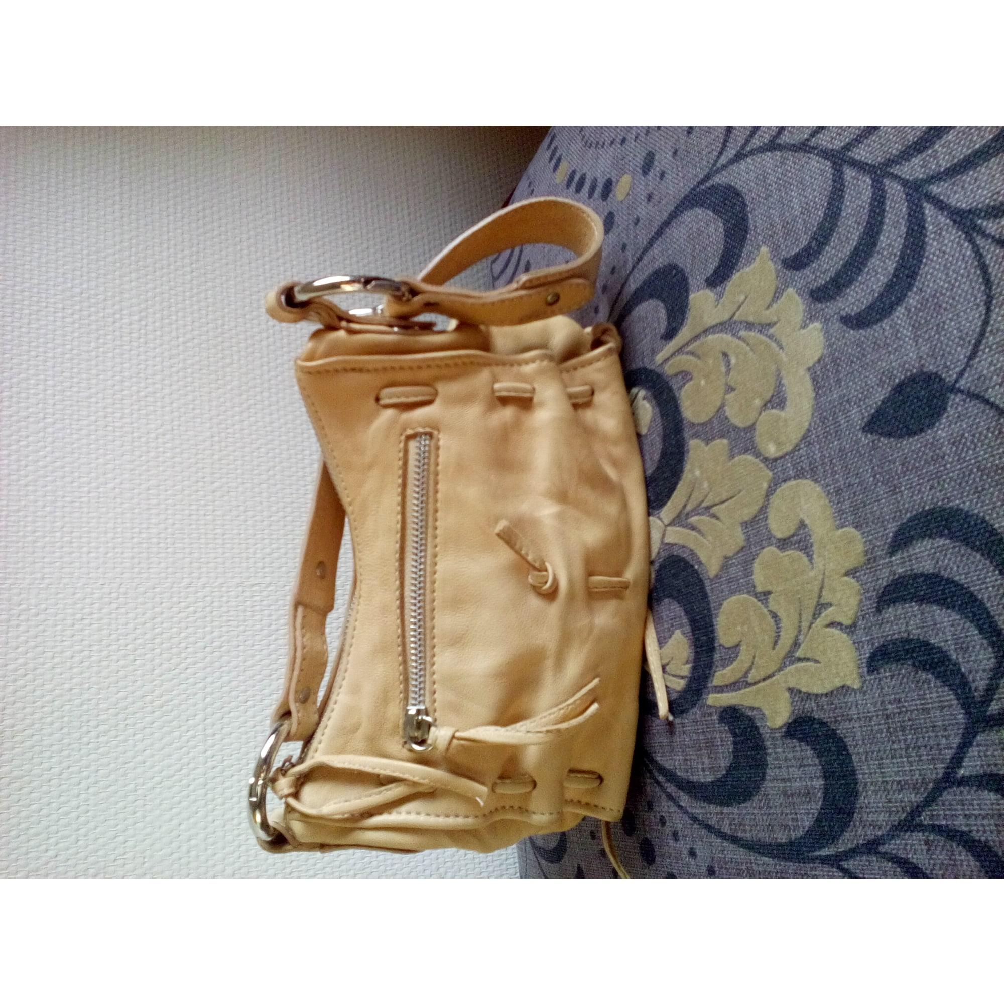 0bb7dadb33 Sac à main en cuir MARQUE DE MAROQUINERIE ITALIENNE beige - 4106323