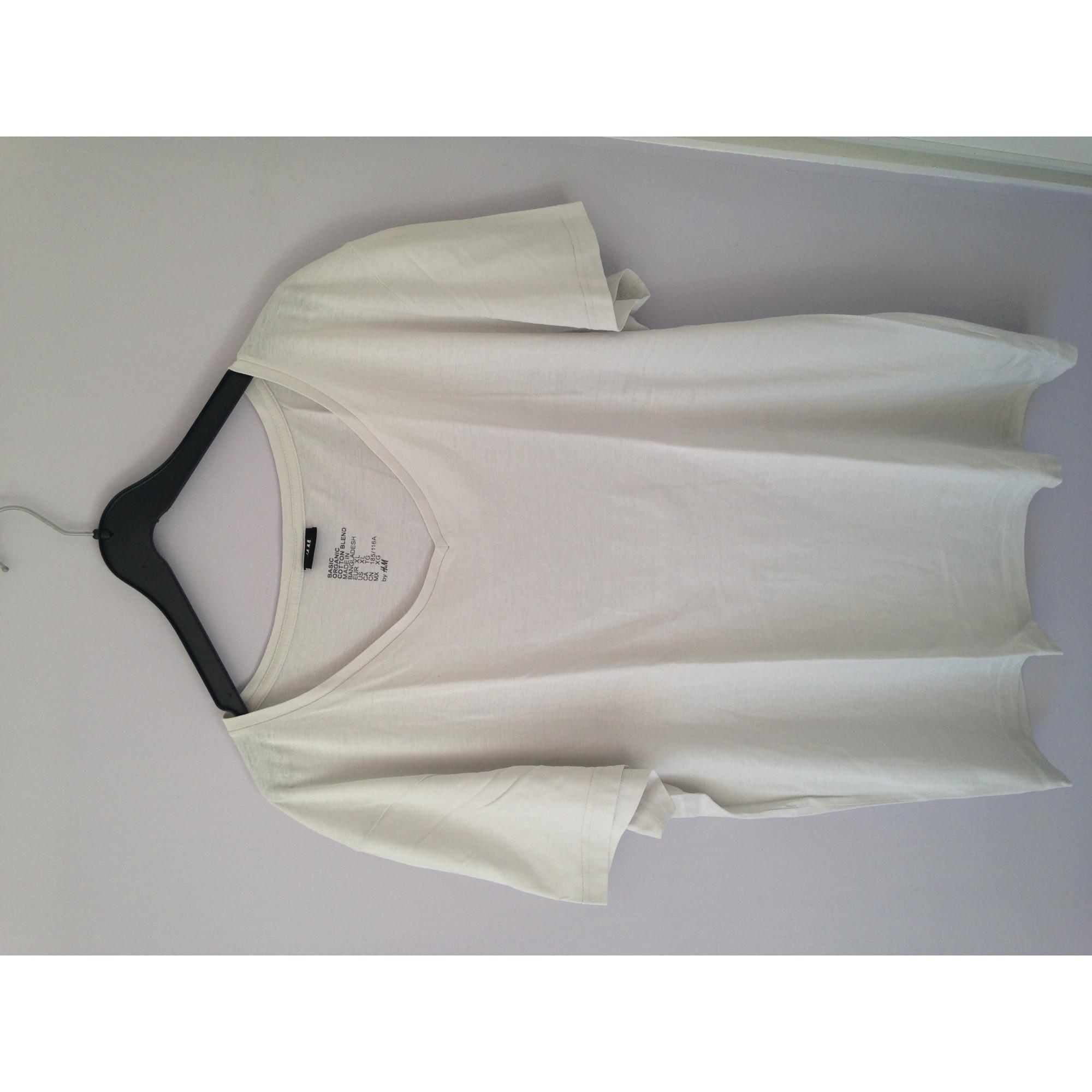 Tee-shirt H&M Blanc, blanc cassé, écru