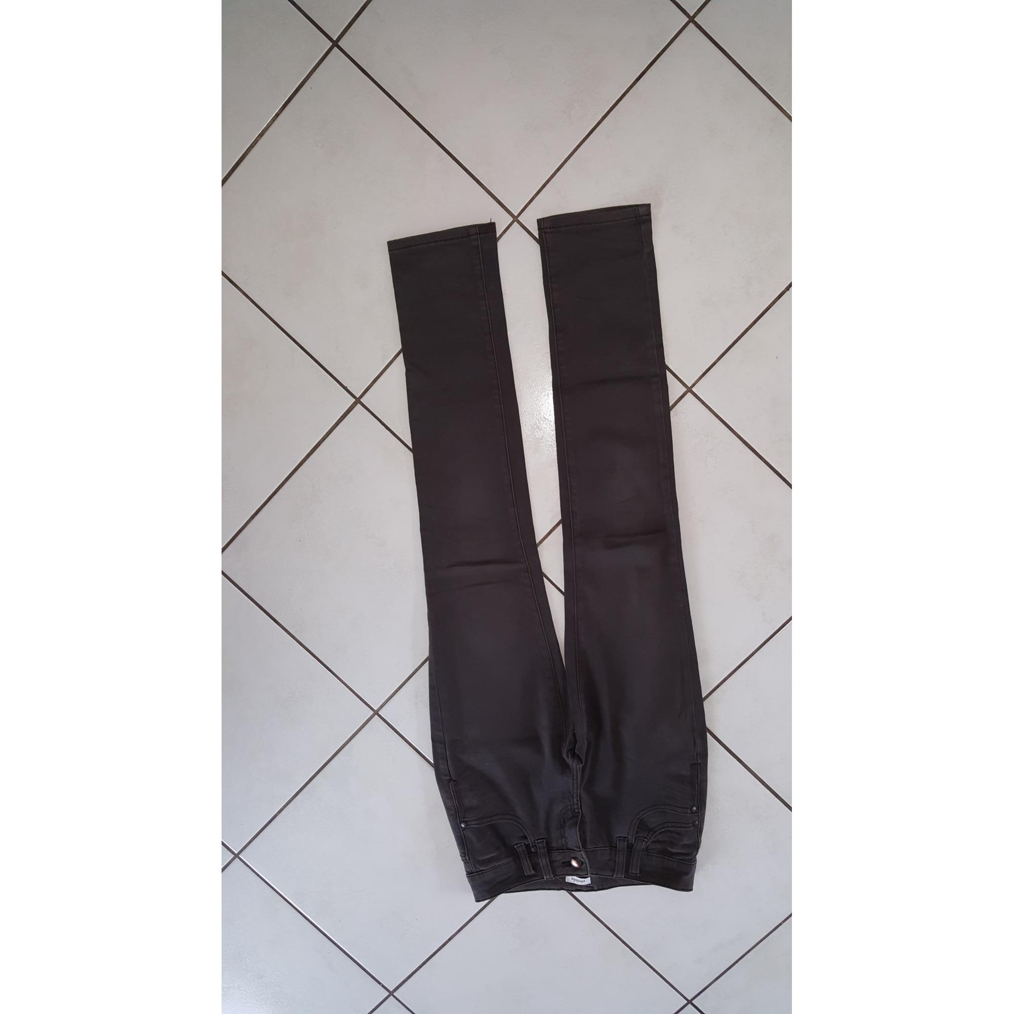 Pantalon droit PIMKIE Gris, anthracite