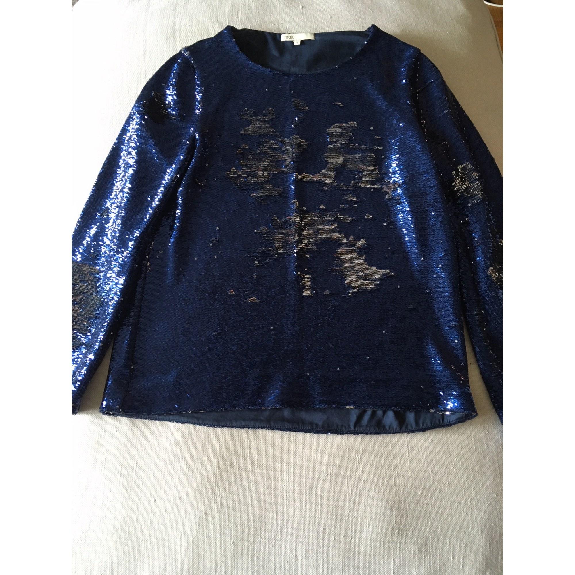 Maje Top, tee-shirt a paillettes 40 (L, T3)