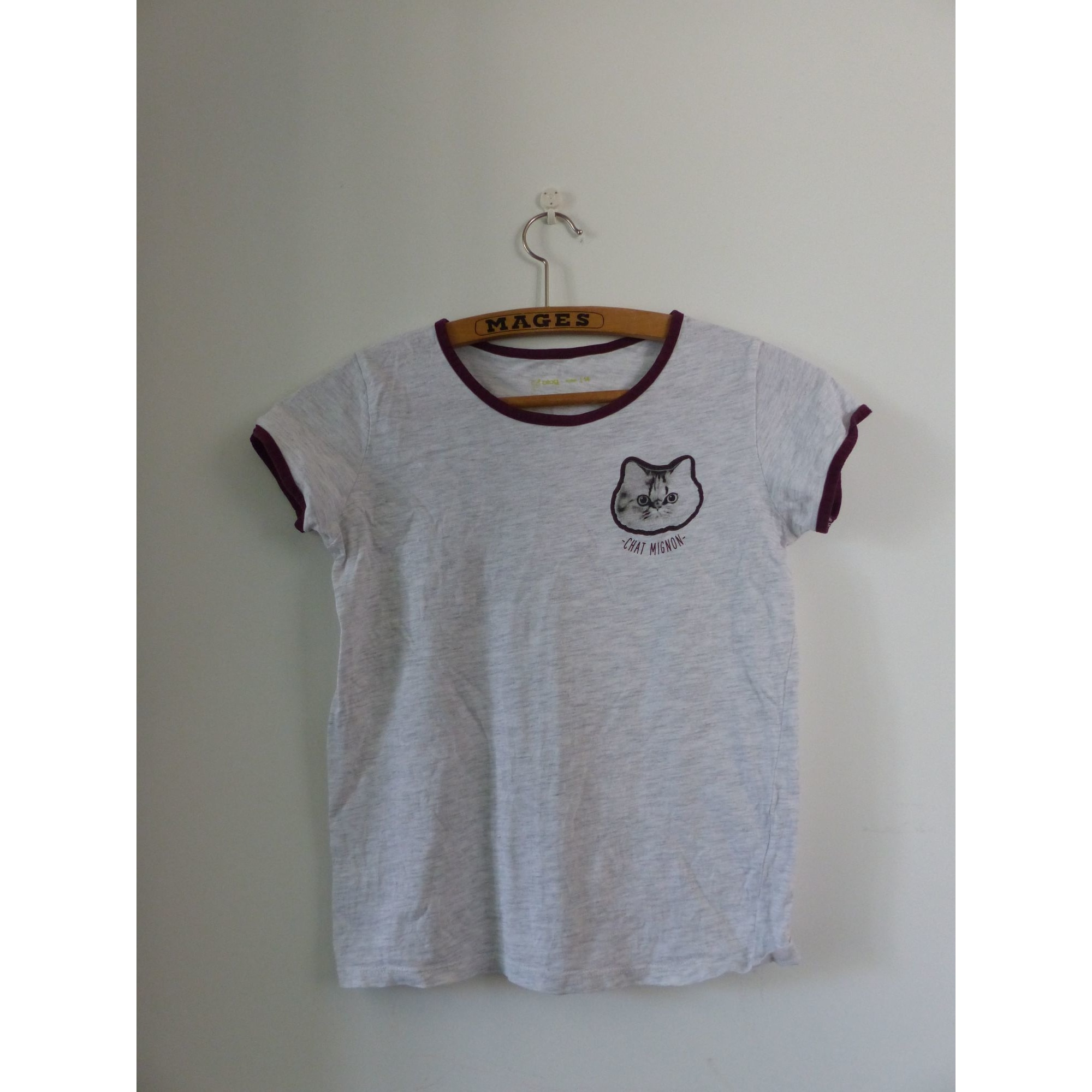 Top, Tee-shirt GÉMO Gris, anthracite