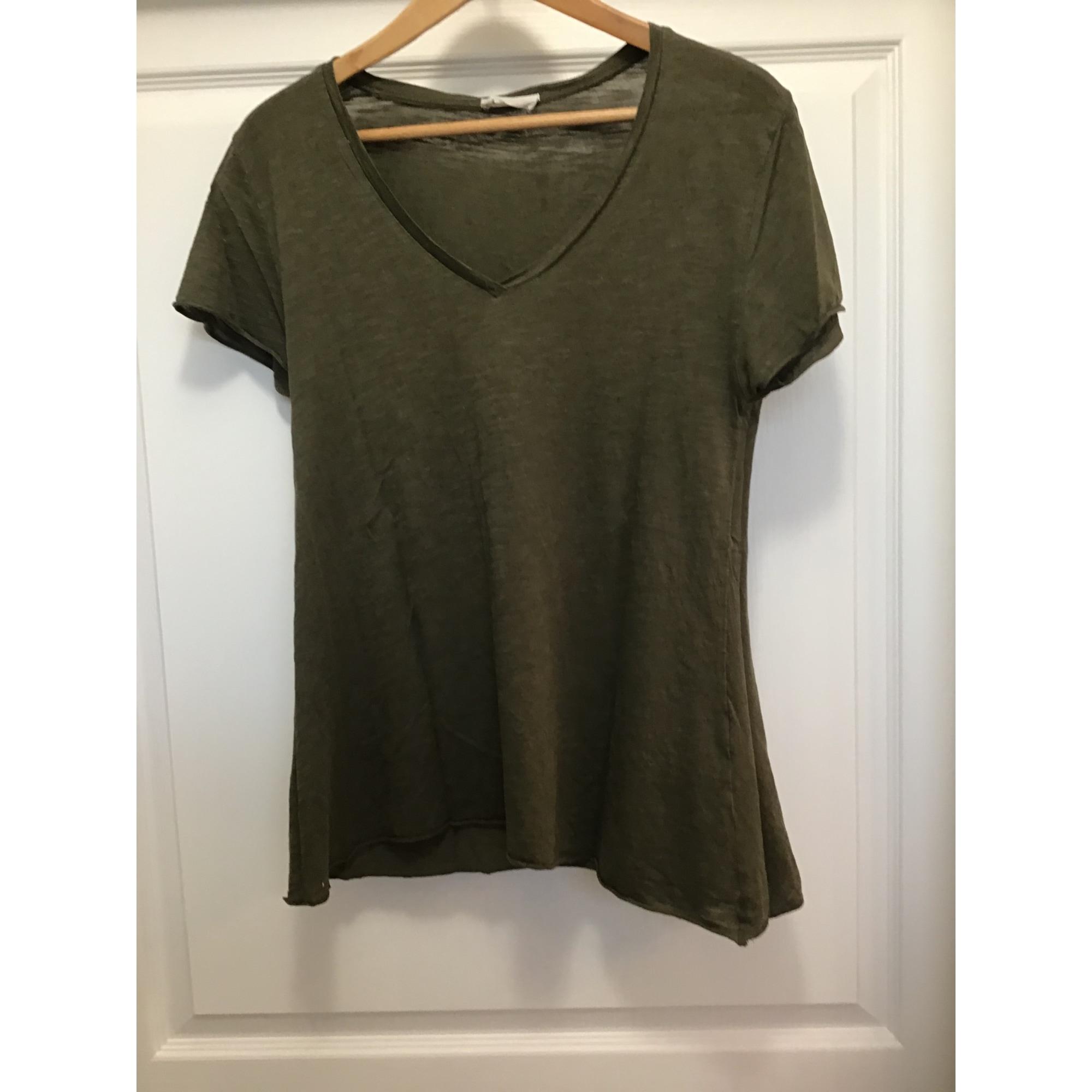 Top, tee-shirt AMERICAN VINTAGE Kaki