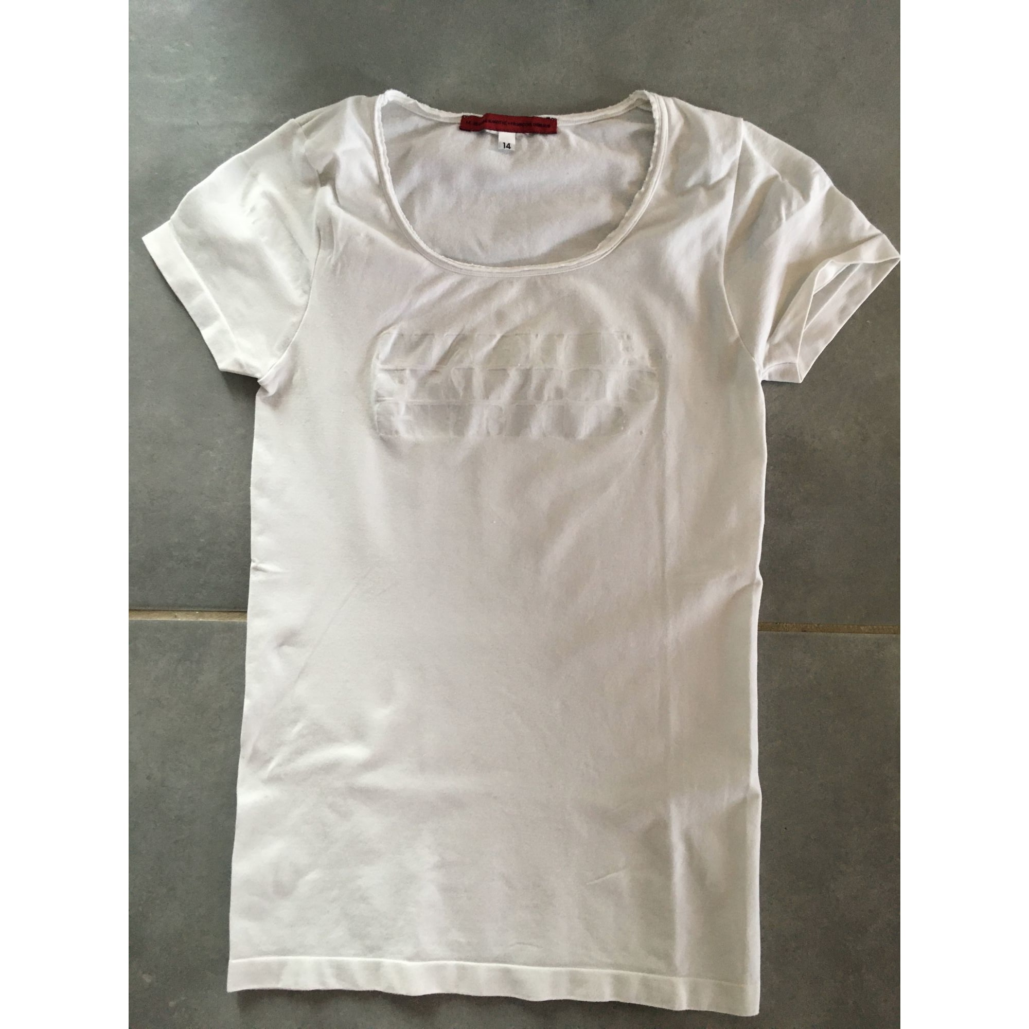 Top, Tee-shirt MARITHÉ ET FRANÇOIS GIRBAUD Blanc, blanc cassé, écru