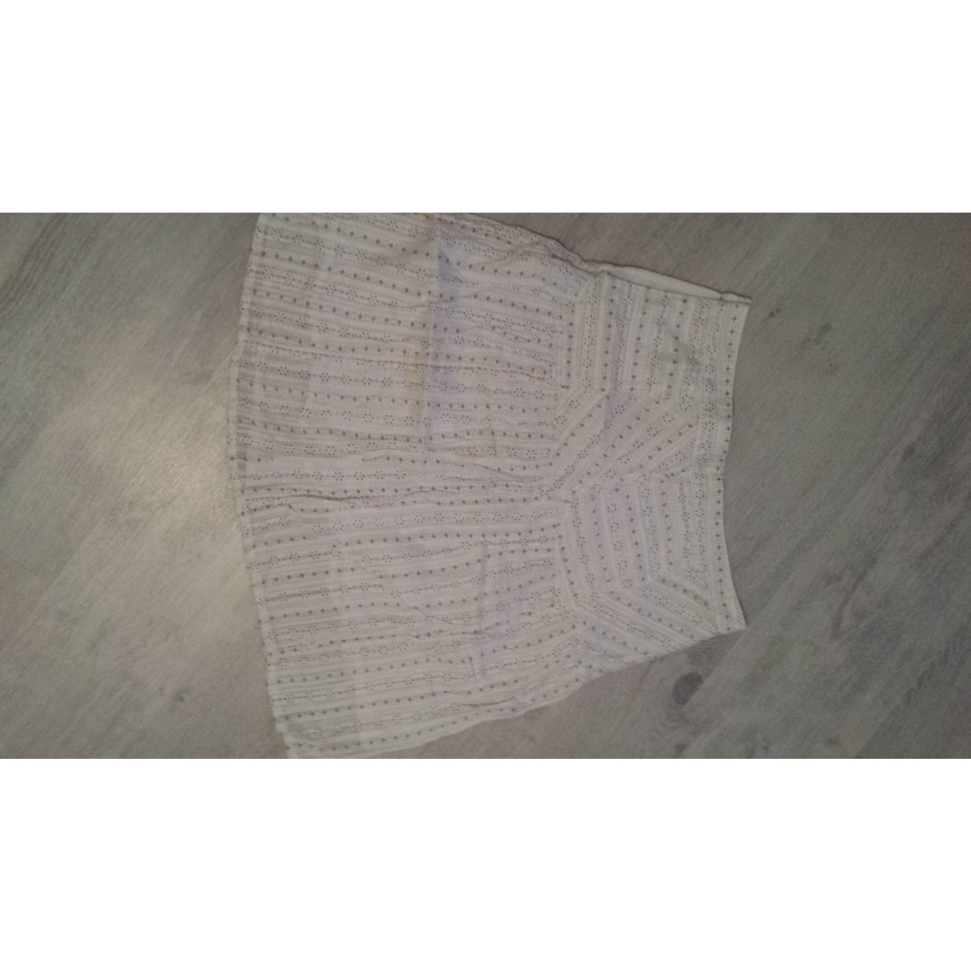 Jupe courte ONLY Blanc, blanc cassé, écru