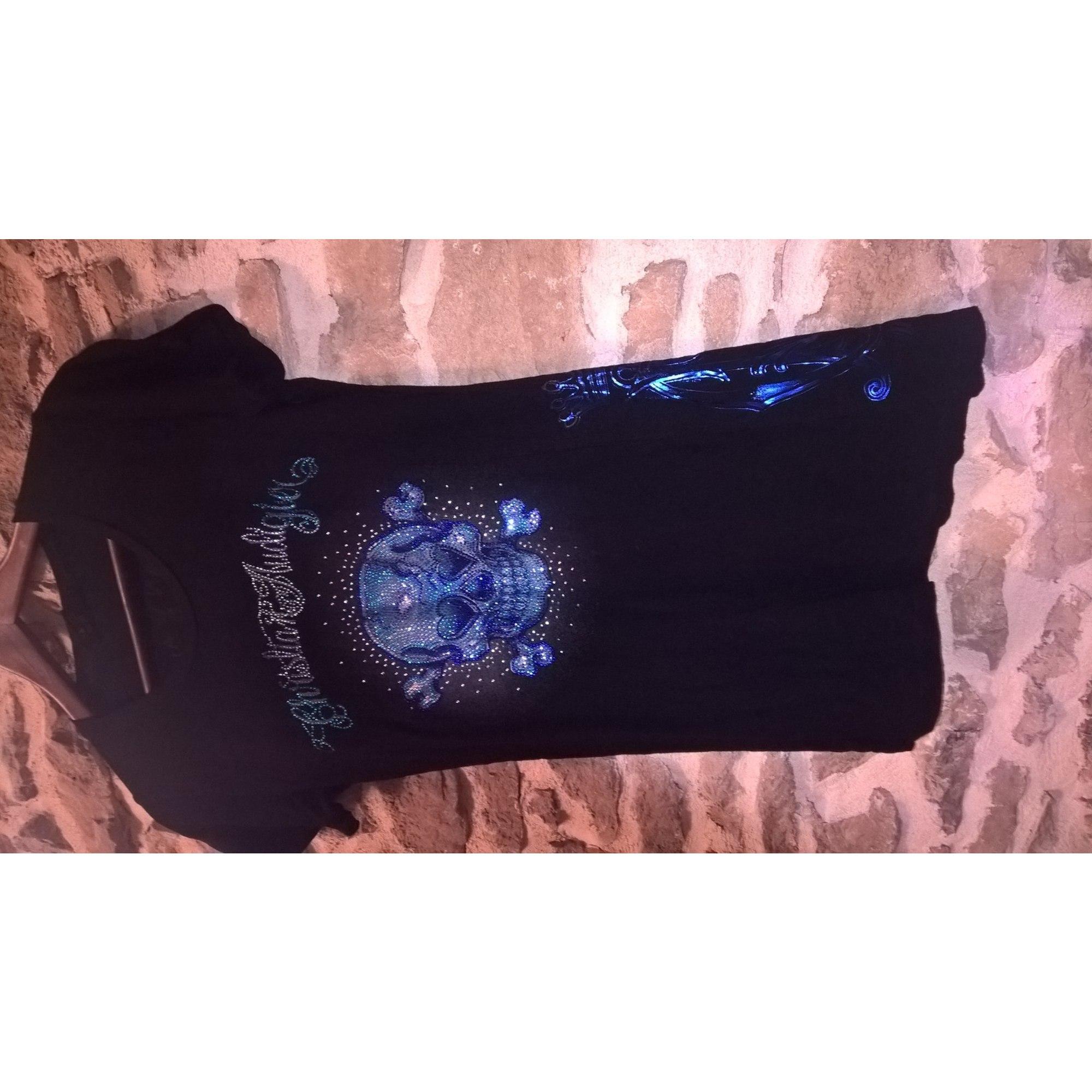 Top, tee-shirt CHRISTIAN AUDIGIER Noir