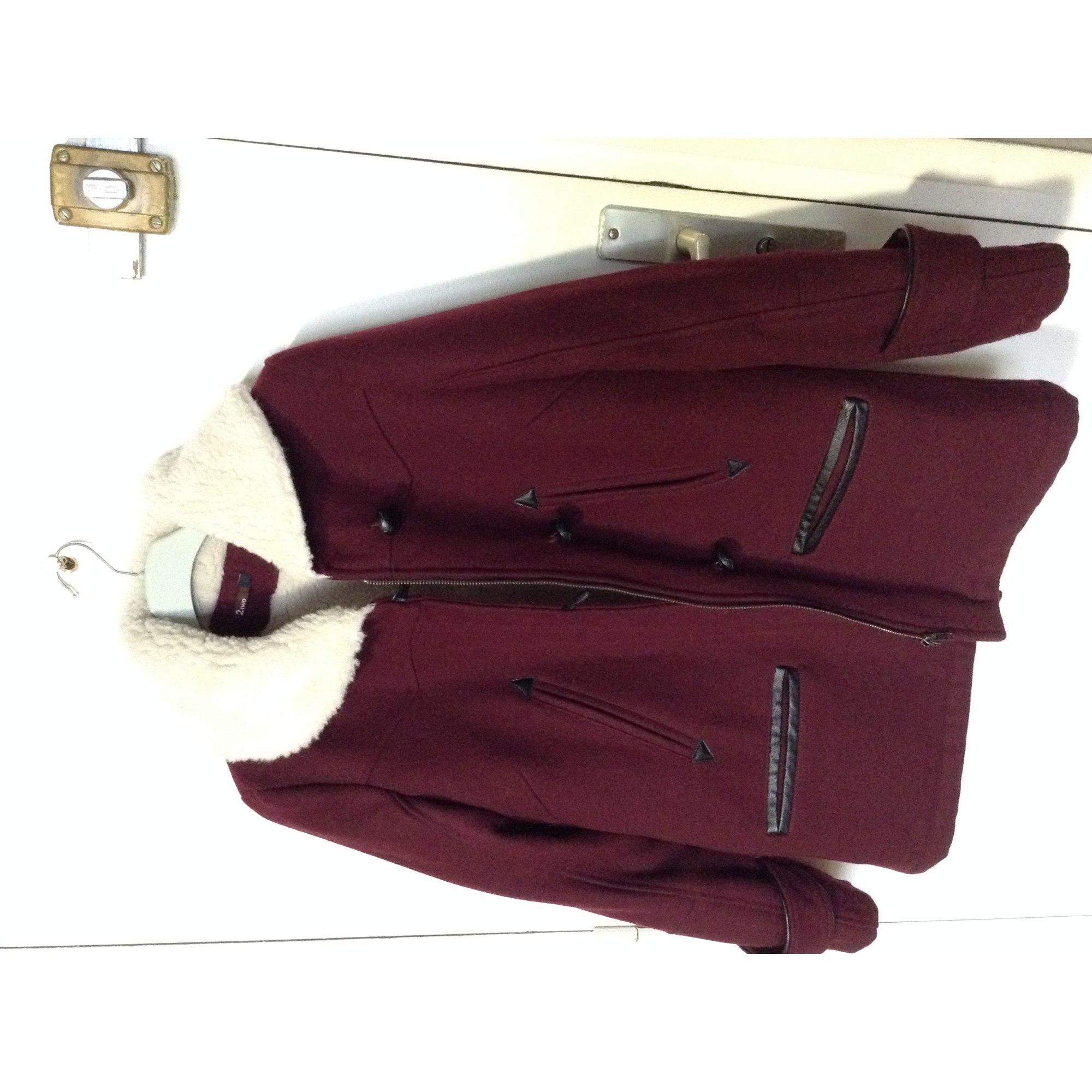 Manteau 2 TWO Rouge, bordeaux