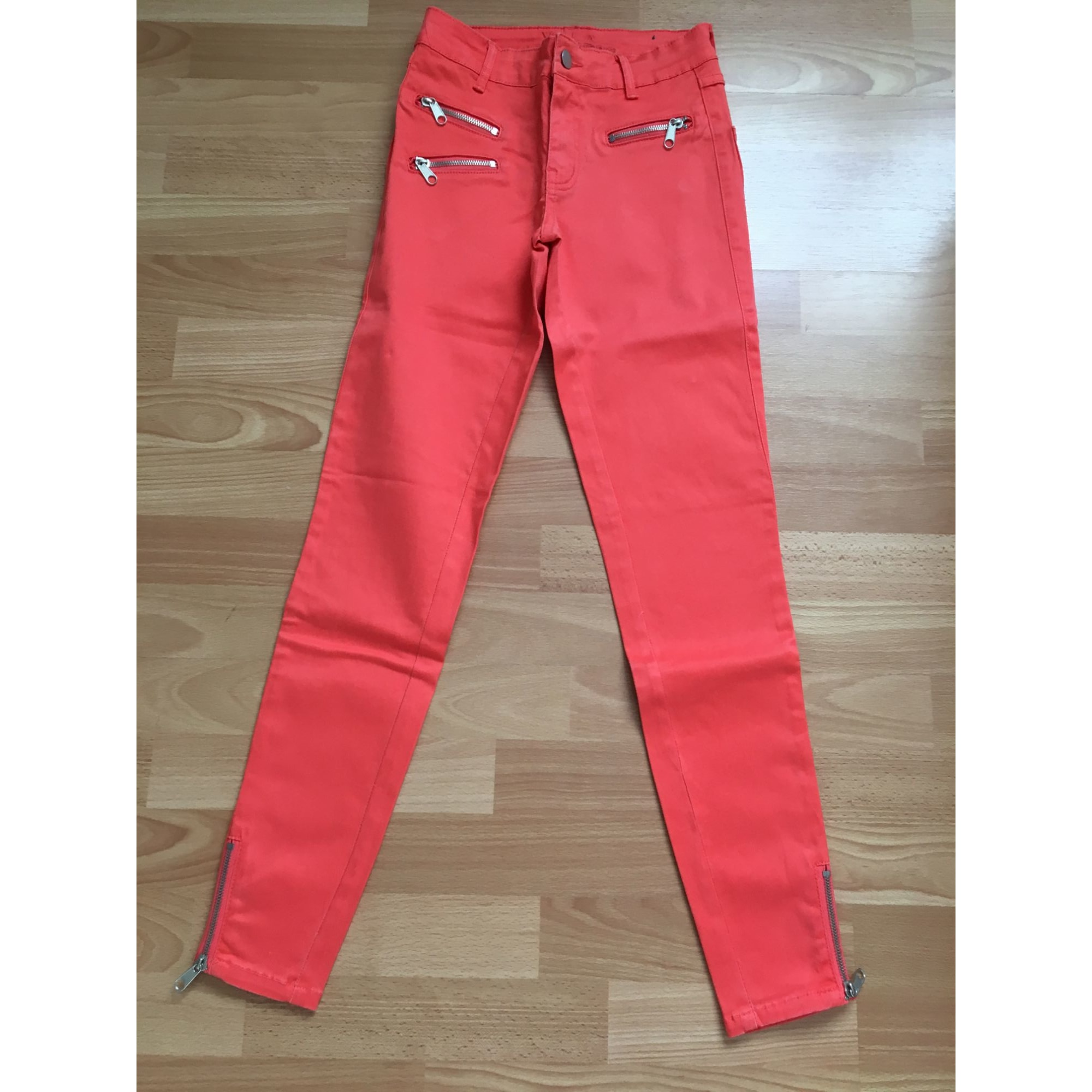 Pantalon slim, cigarette VILA Orange