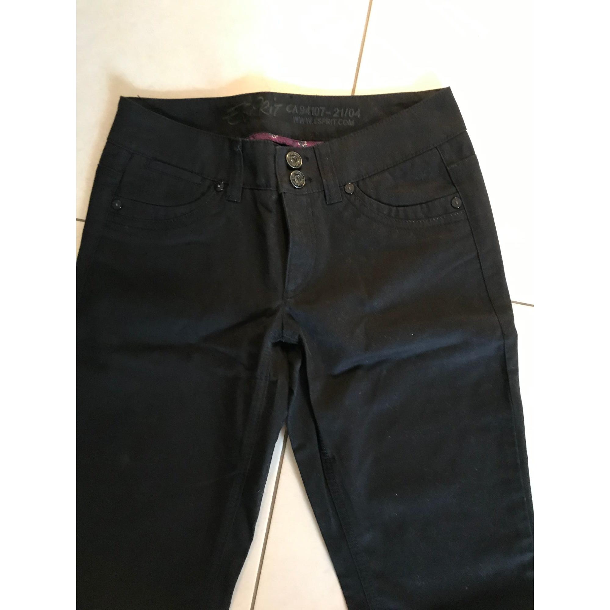 Pantalon droit ESPRIT Noir