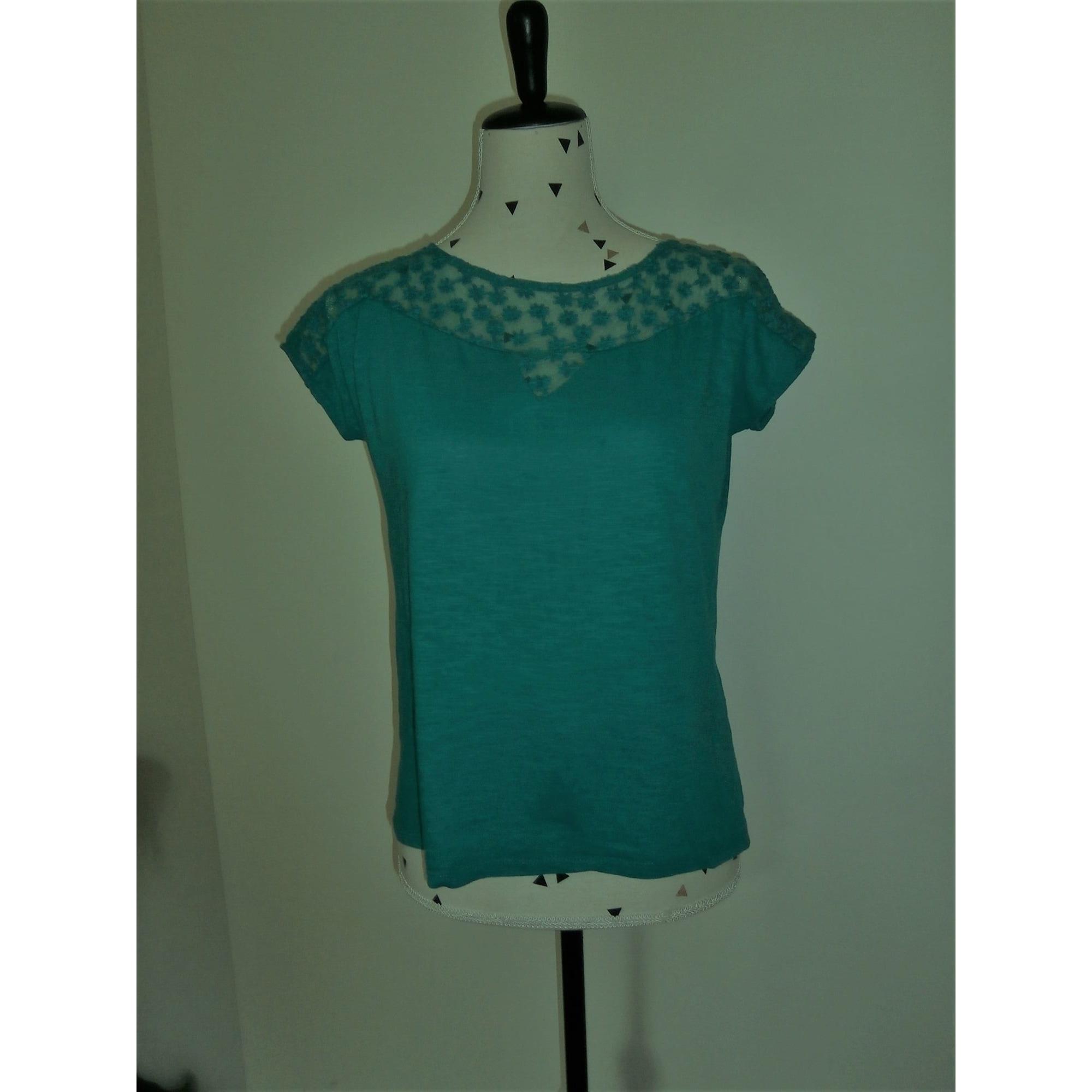 Top, tee-shirt NAF NAF Bleu, bleu marine, bleu turquoise