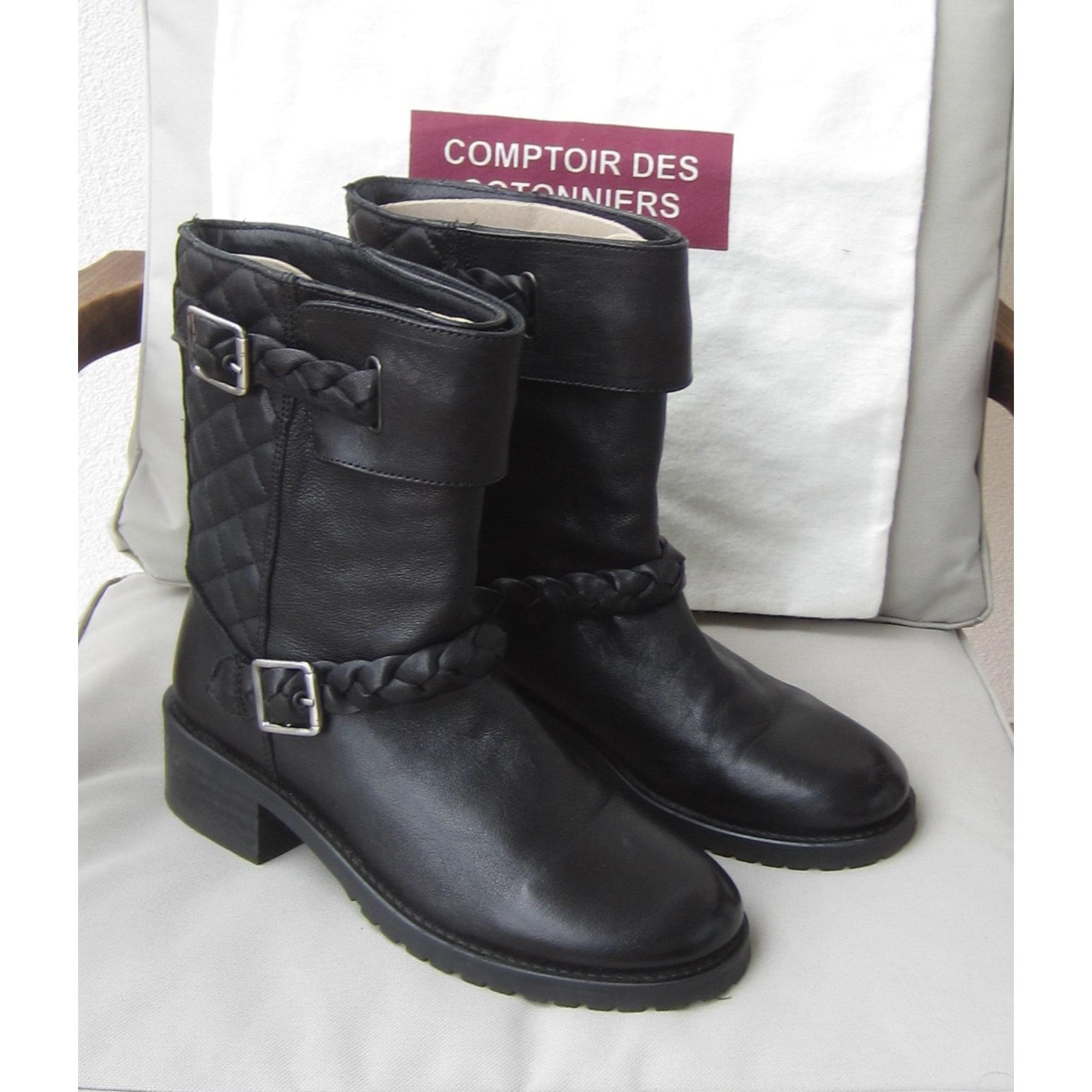 Bottines & low boots plates COMPTOIR DES COTONNIERS Noir
