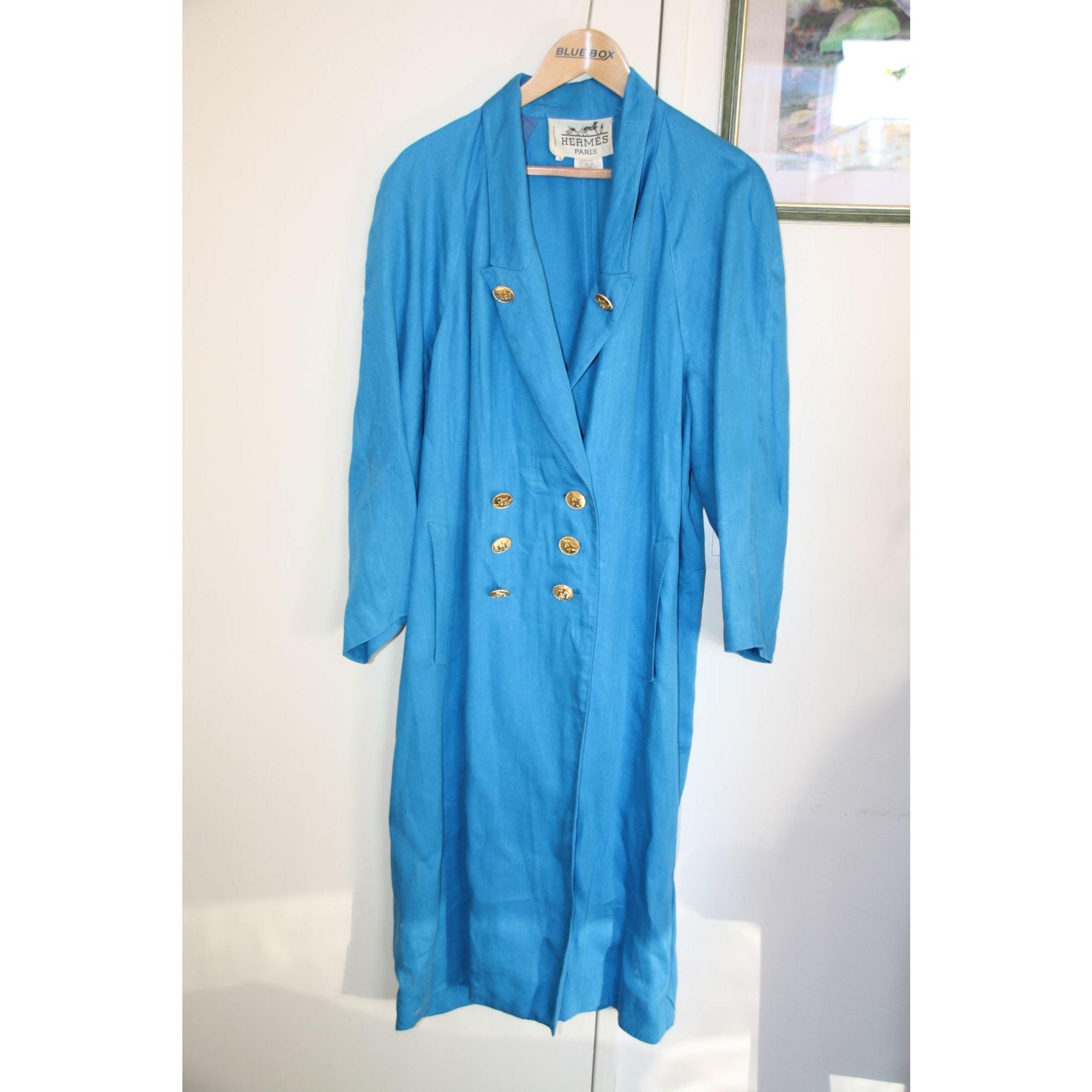 Robe mi-longue HERMÈS Bleu, bleu marine, bleu turquoise
