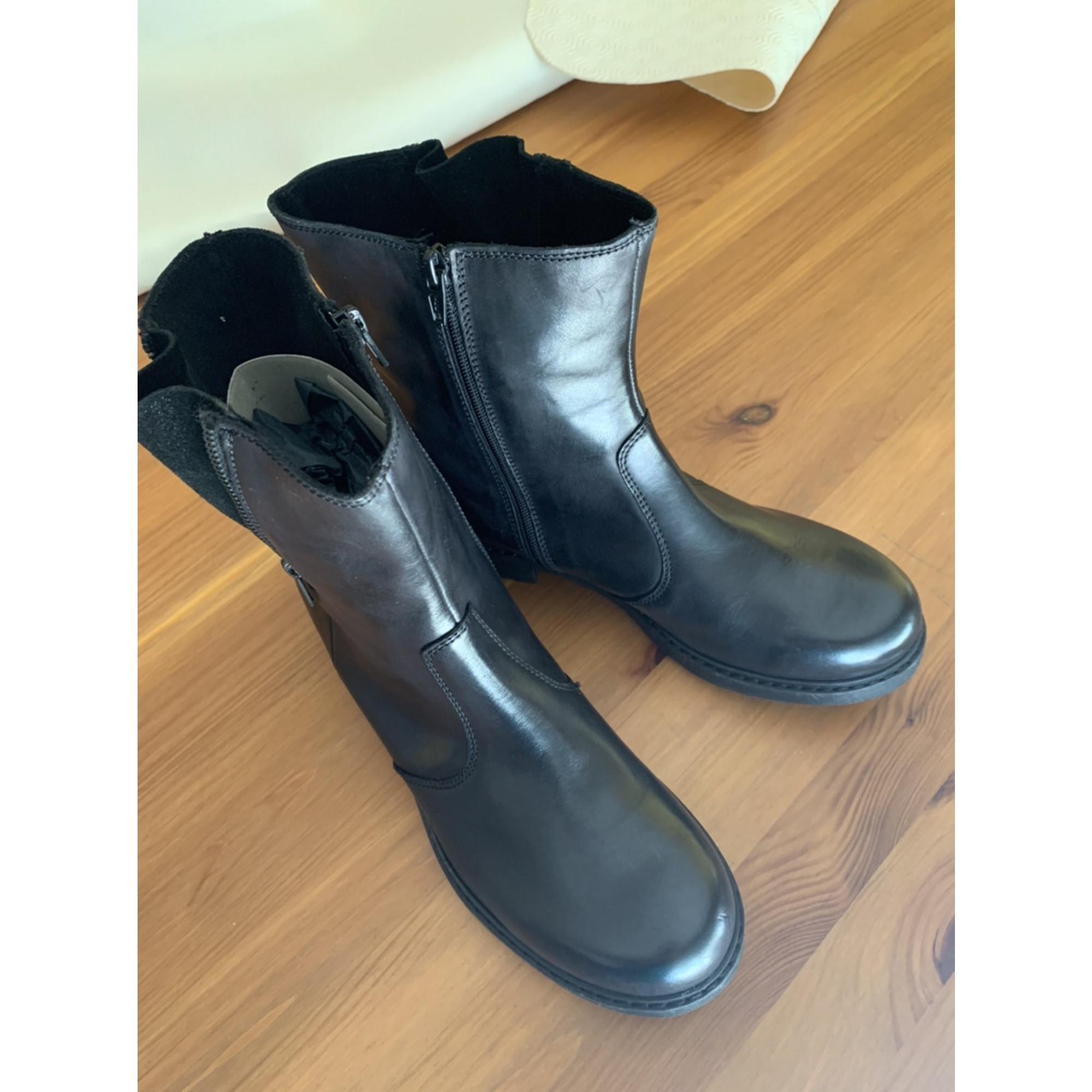 Bottines & low boots plates MANAS Noir
