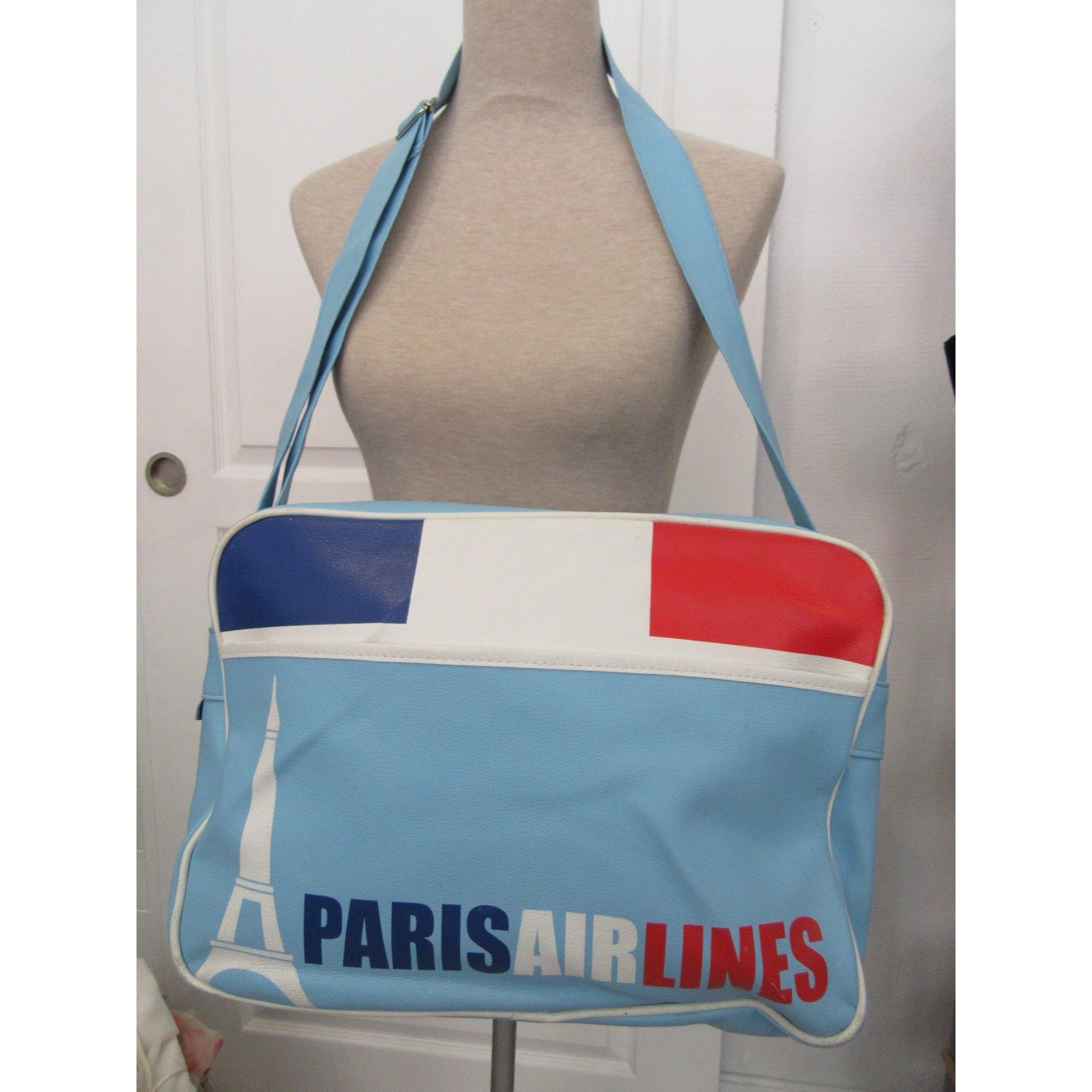 Cabas PARIS AIRLINES Bleu, bleu marine, bleu turquoise