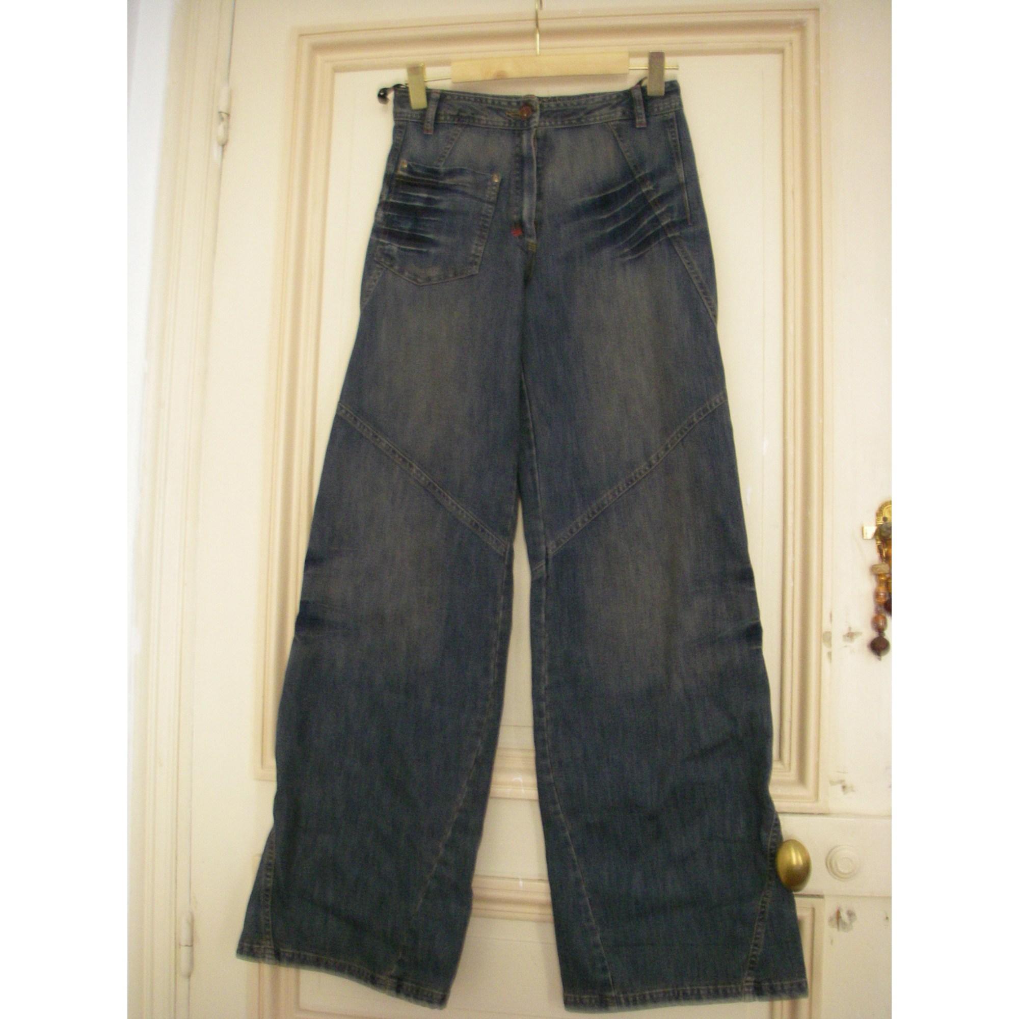 Jeans très evasé, patte d'éléphant CANNISSE Bleu, bleu marine, bleu turquoise