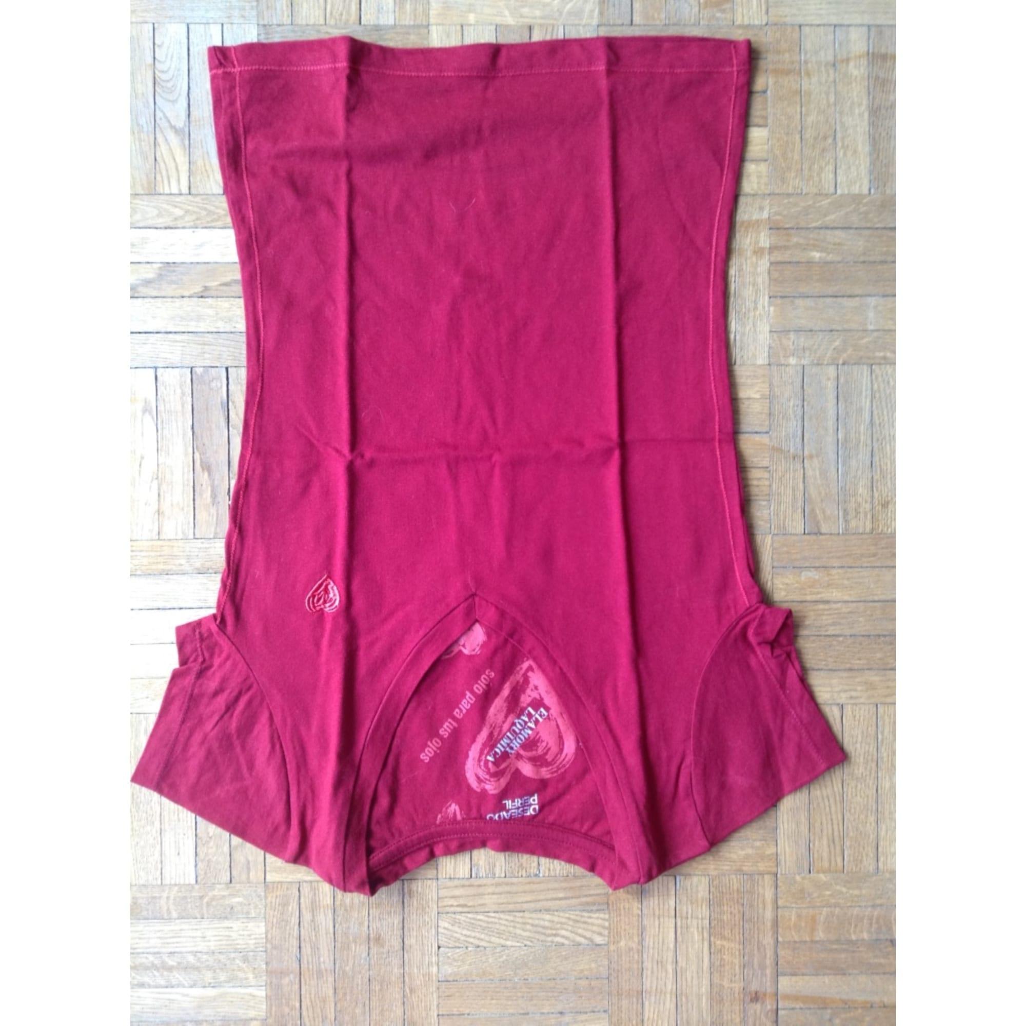 Top, tee-shirt DESIGUAL Rouge, bordeaux