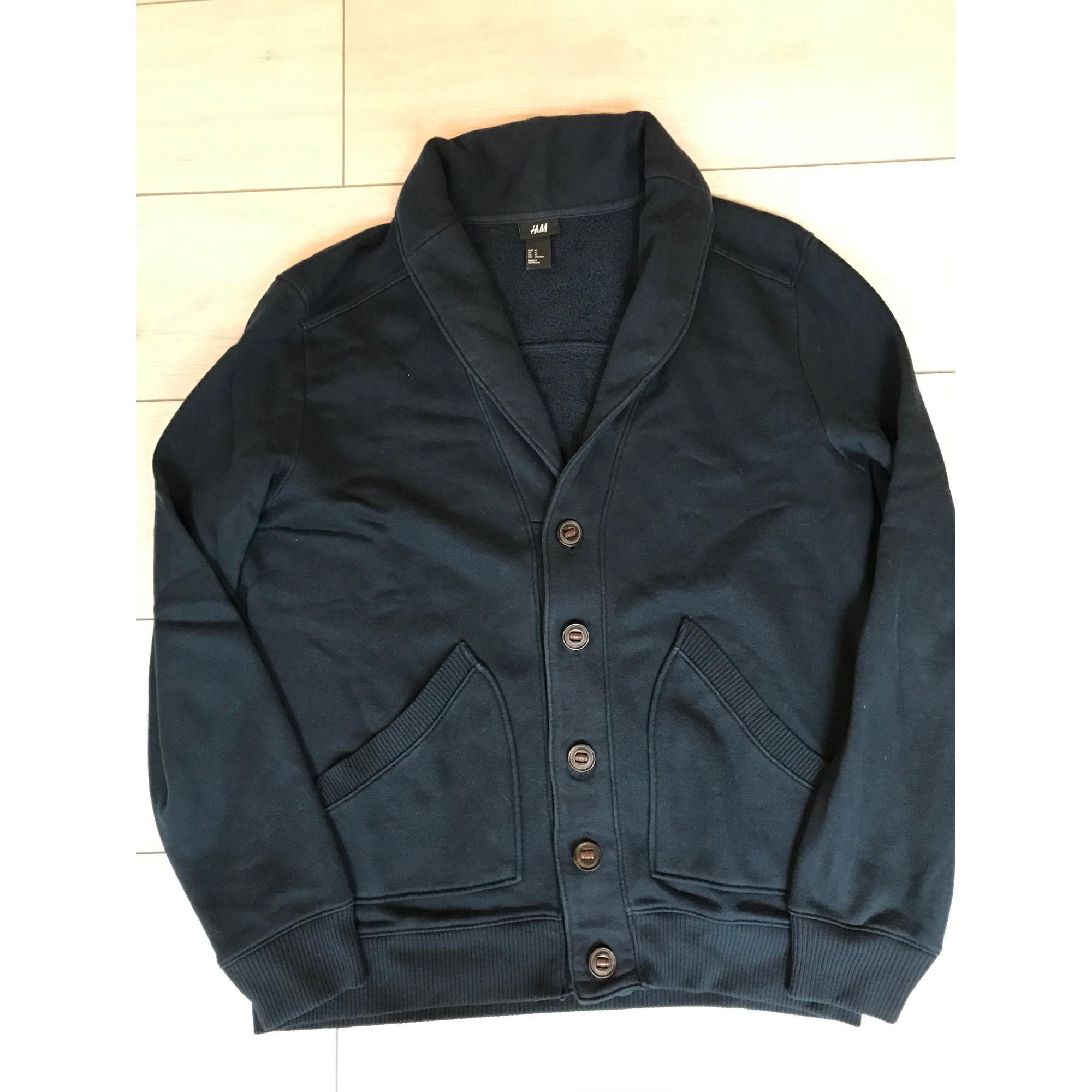 Gilet, cardigan H&M Bleu, bleu marine, bleu turquoise