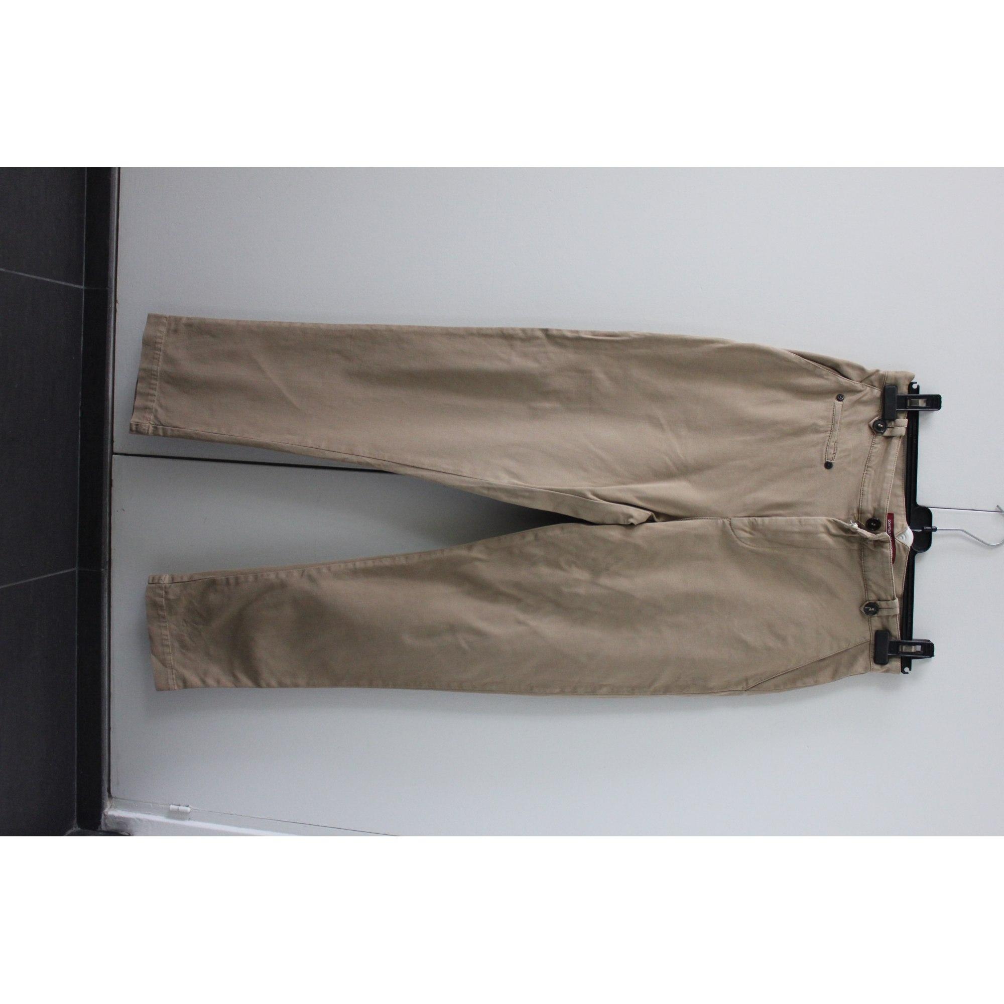 Pantalon droit COMPTOIR DES COTONNIERS Beige, camel