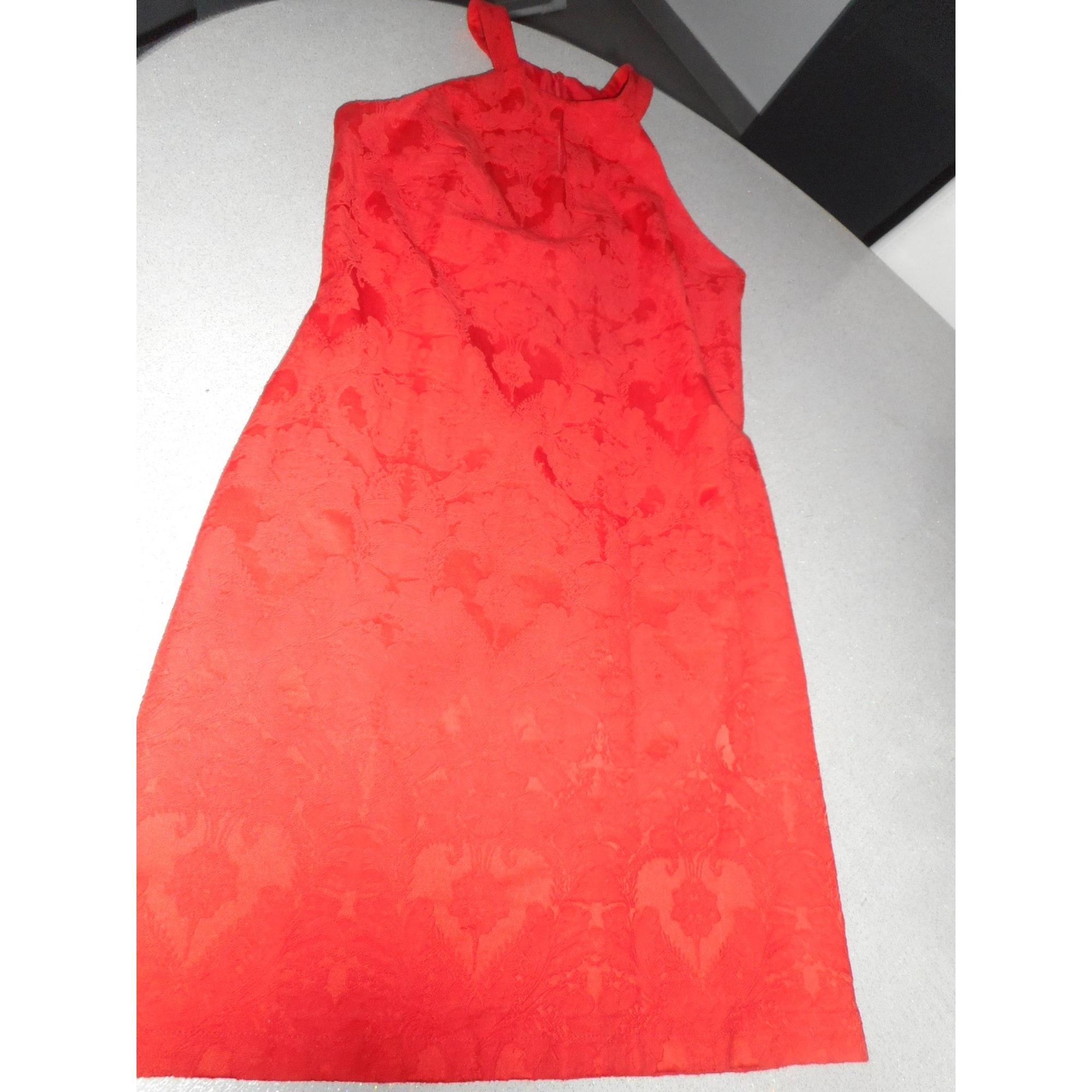 Robe courte CAMAIEU Rouge, bordeaux