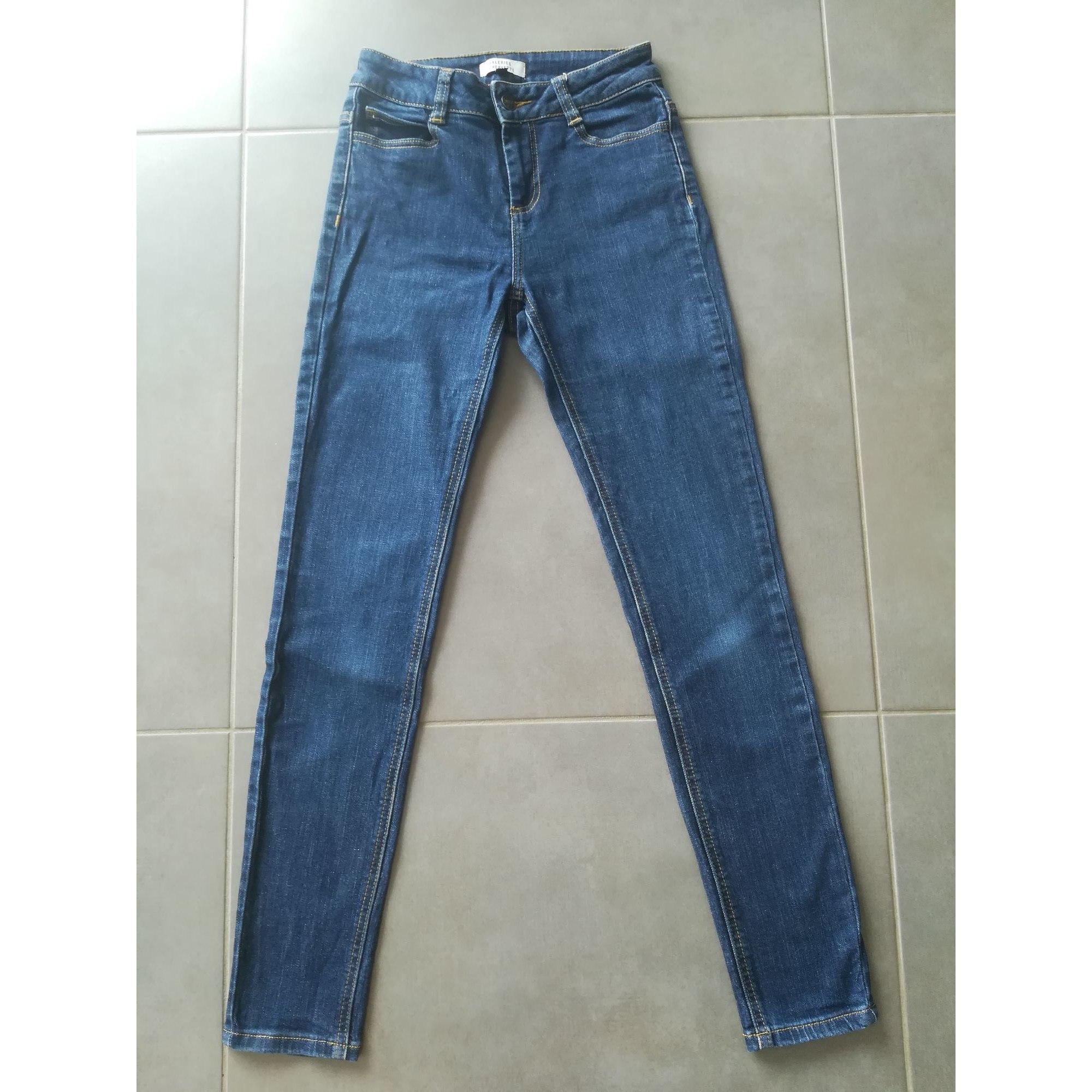 Jeans slim GALERIES LAFAYETTE Bleu, bleu marine, bleu turquoise
