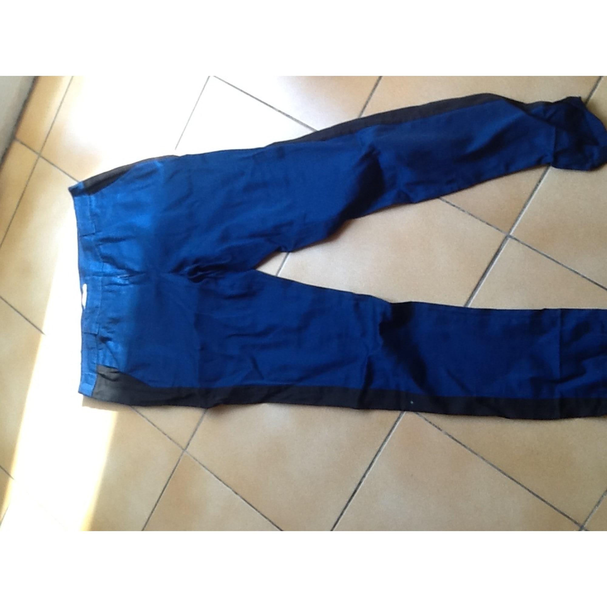 Pantalon slim, cigarette ETAM Bleu, bleu marine, bleu turquoise