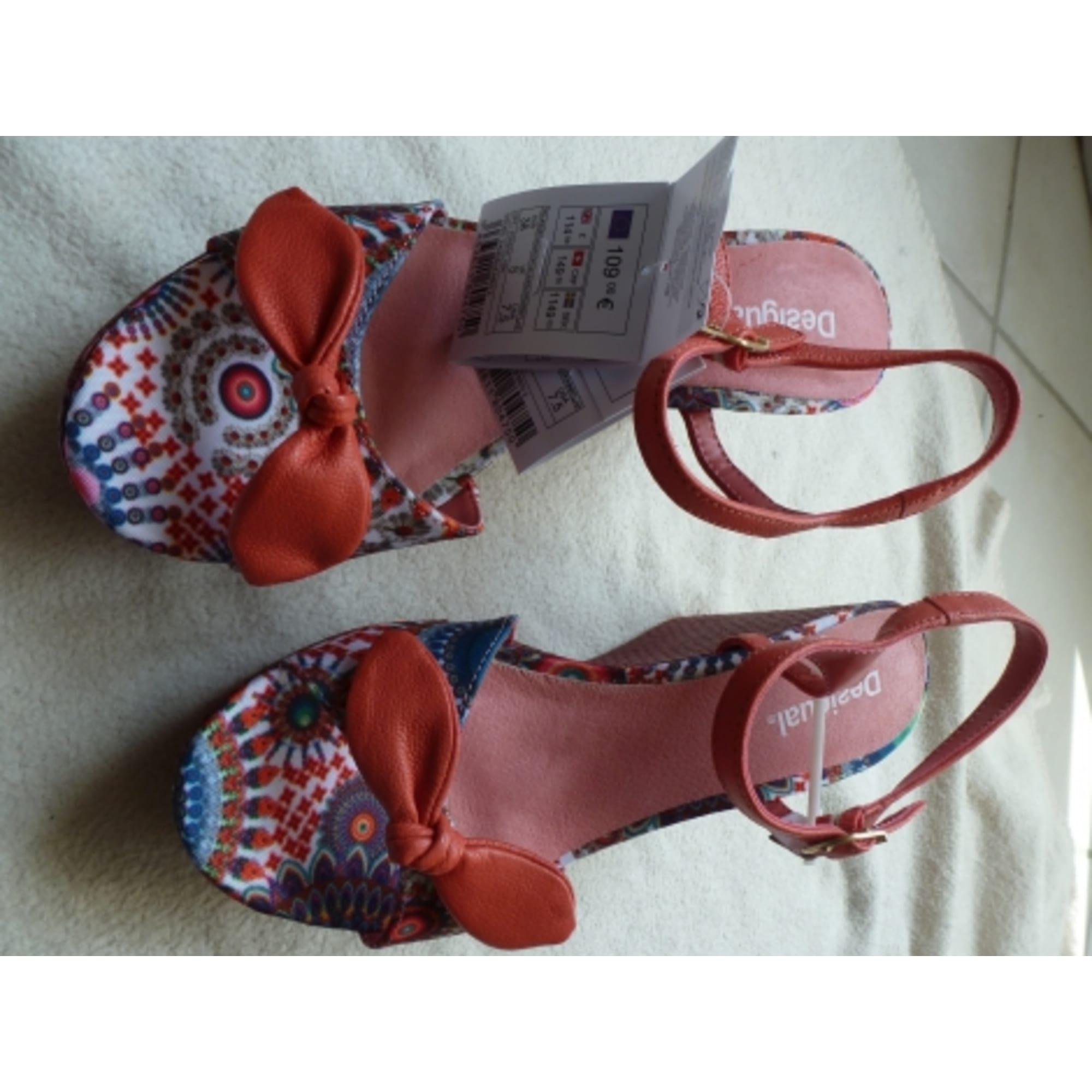 Compensées Sandales Desigual 4868328 38 Rose rhsdCxtQ