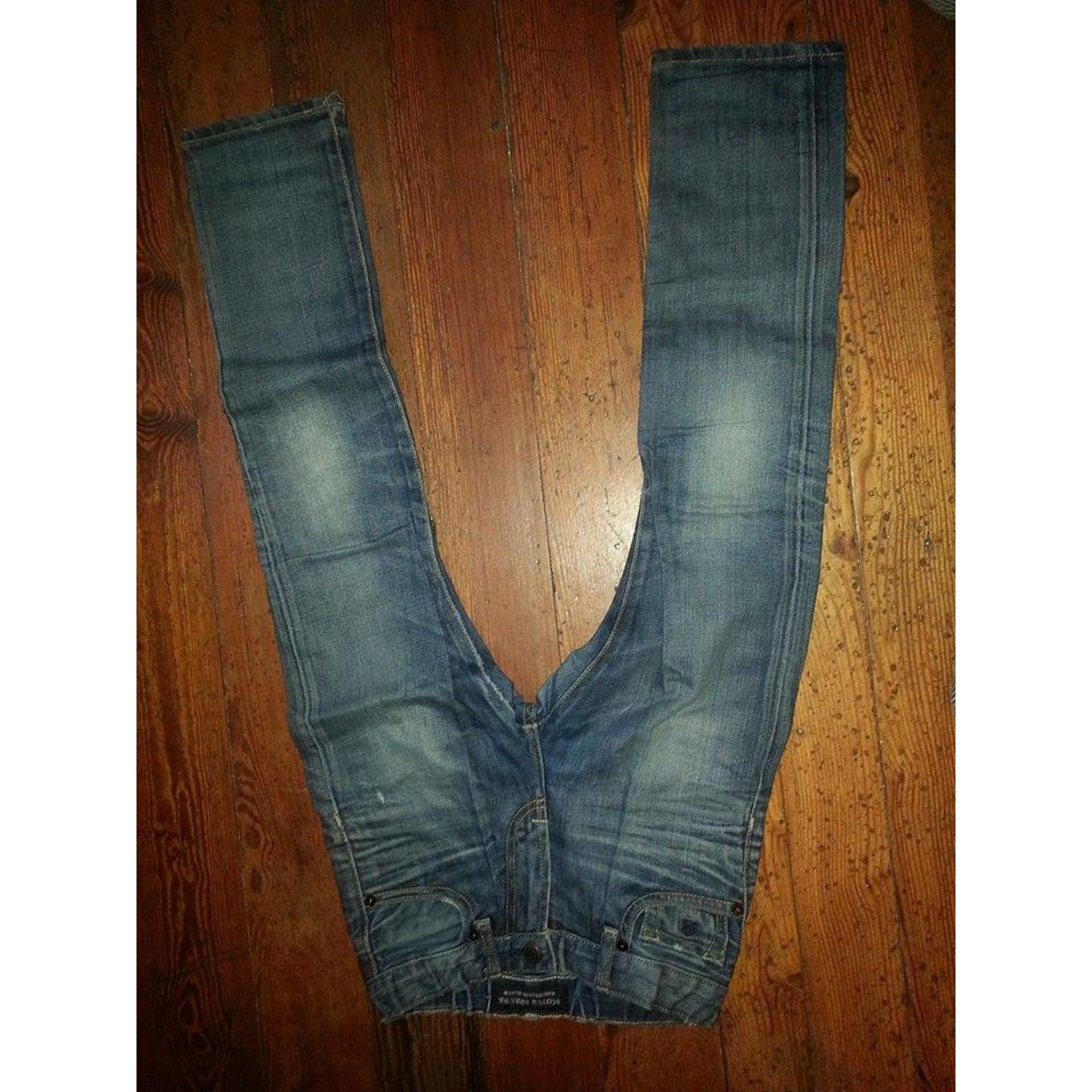 Jeans droit SCOTCH SHRUNK Bleu, bleu marine, bleu turquoise