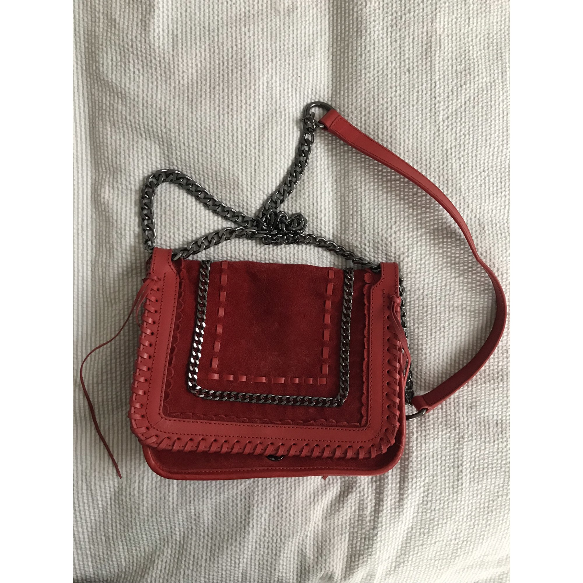 c86a5fea13 Sac en bandoulière en cuir ZARA rouge vendu par Floisflo547561 - 7544647